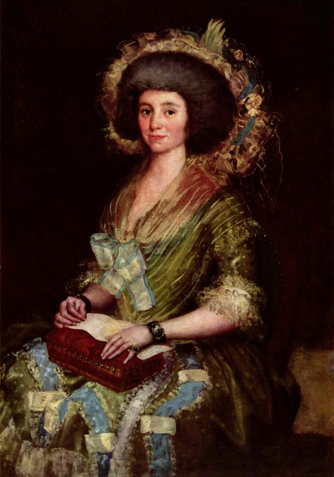 Портрет жены Хуана Аугустина Сеана Бермудеса, Франсиско де Гойя-и-Лусьентес