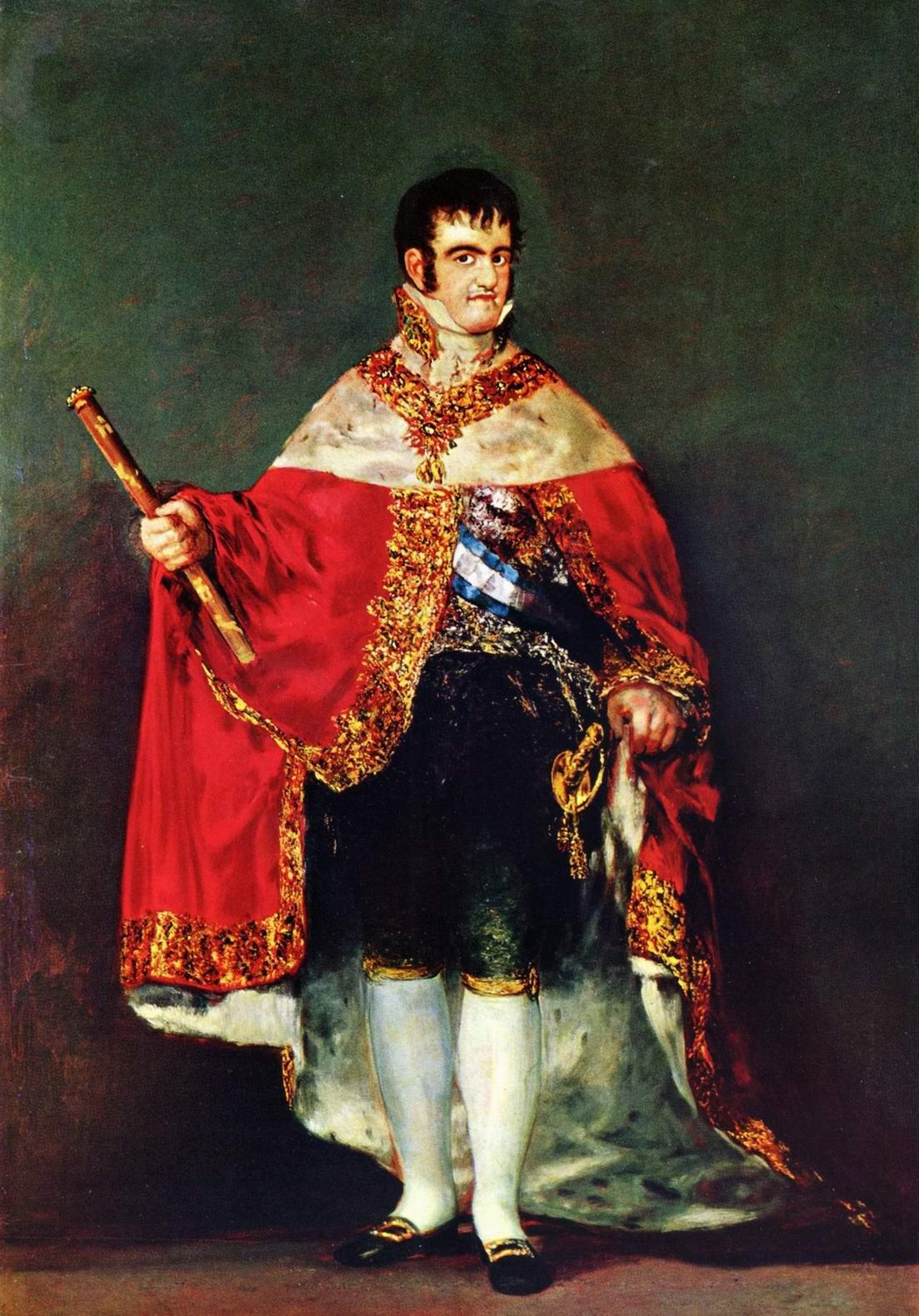 Портрет Фердинанда VII с королевскими регалиями, Франсиско де Гойя-и-Лусьентес