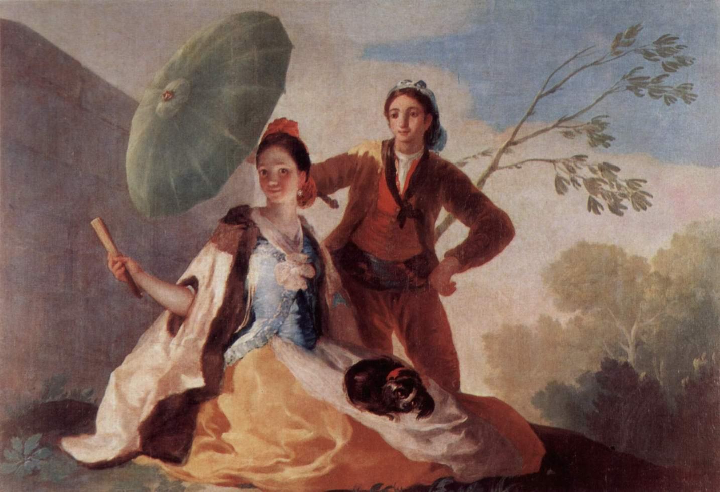 Эскизы гобеленов для королевских дворцов Прадо и Эскориал. Солнечный зонтик, Франсиско де Гойя-и-Лусьентес