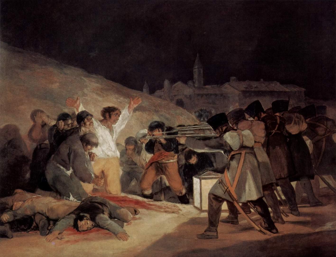 Расстрел повстанцев 3 мая 1808 года в Мадриде, Франсиско де Гойя-и-Лусьентес