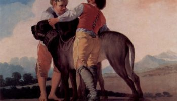 Эскизы гобеленов для королевских дворцов Прадо и Эскориал. Мальчики с легавой