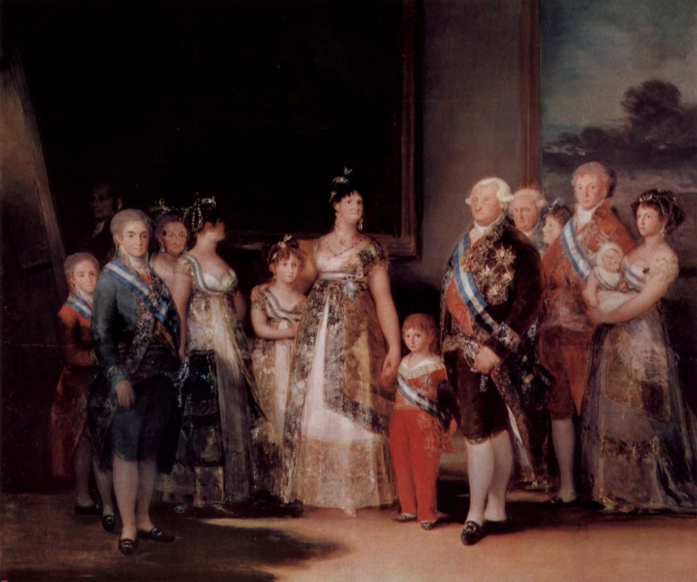 Семейство Карла IV, Франсиско де Гойя-и-Лусьентес