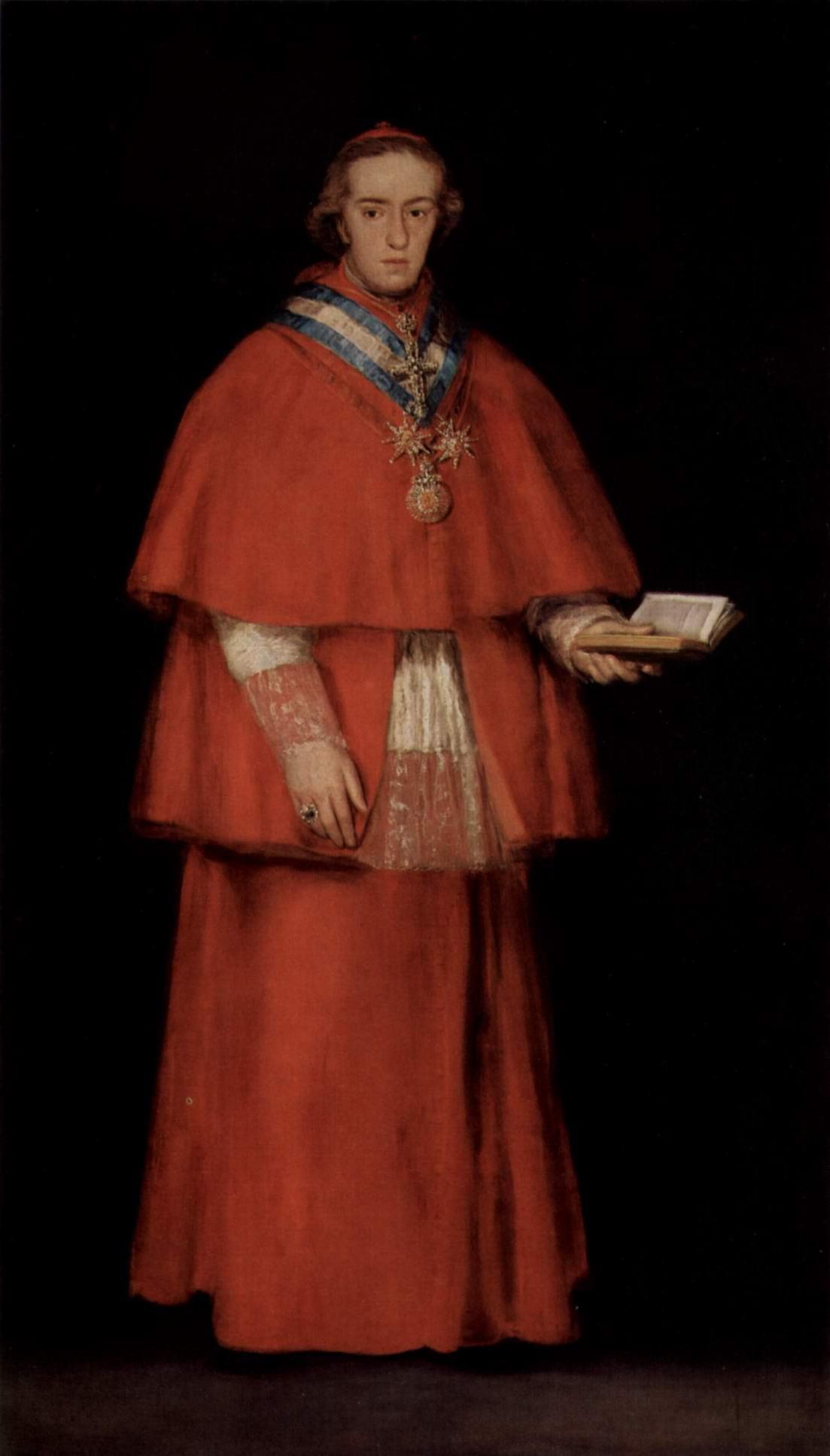 Портрет кардинала Луиса Марии де Борон-и-Вальябрига, Франсиско де Гойя-и-Лусьентес