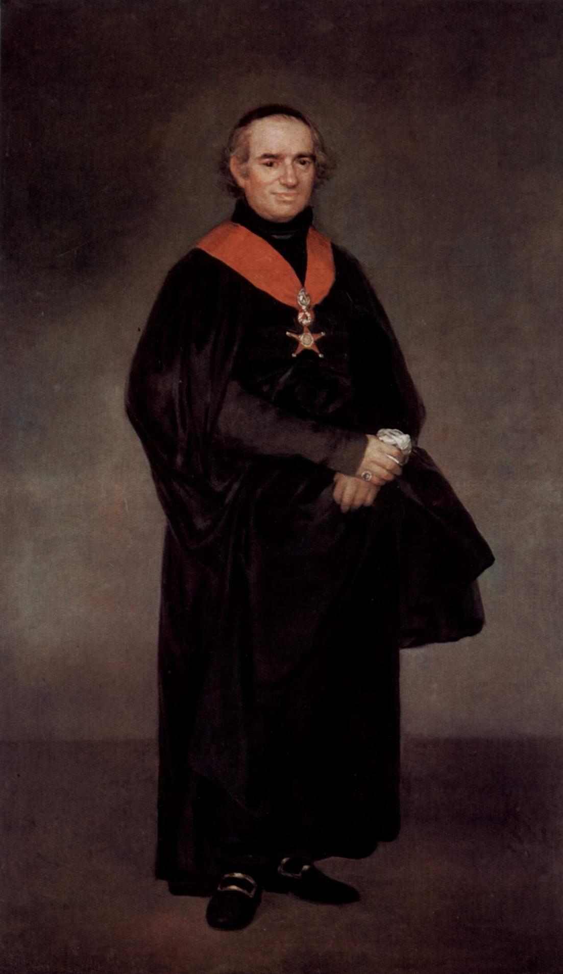 Портрет Хуана Антонио Льоренте, Франсиско де Гойя-и-Лусьентес