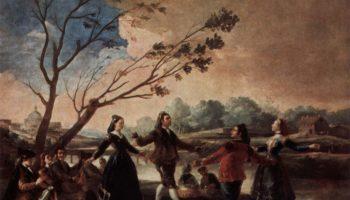 Эскизы гобеленов для королевских дворцов Прадо и Эскориал. Махи, танцующие с горожанами