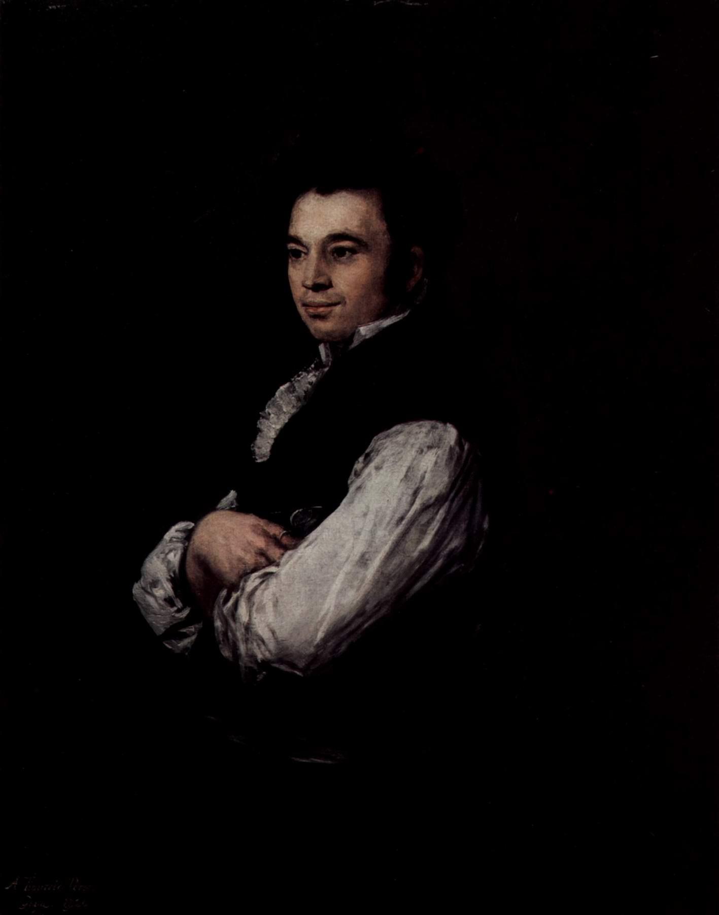 Портрет Тибурсио Переса-и-Куэрво, Франсиско де Гойя-и-Лусьентес