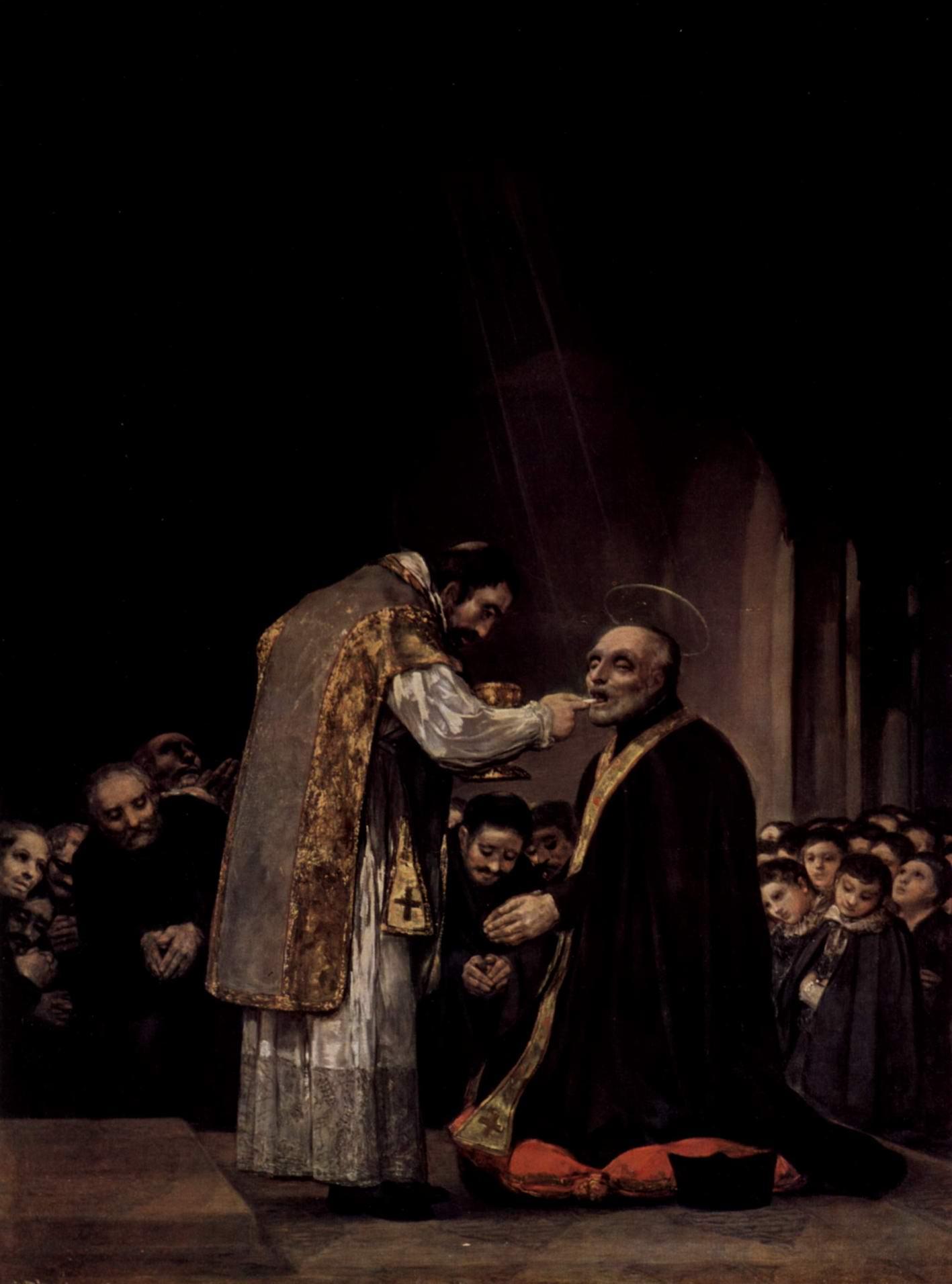 Последнее причастие св. Хосефа из Калазансы, Франсиско де Гойя-и-Лусьентес