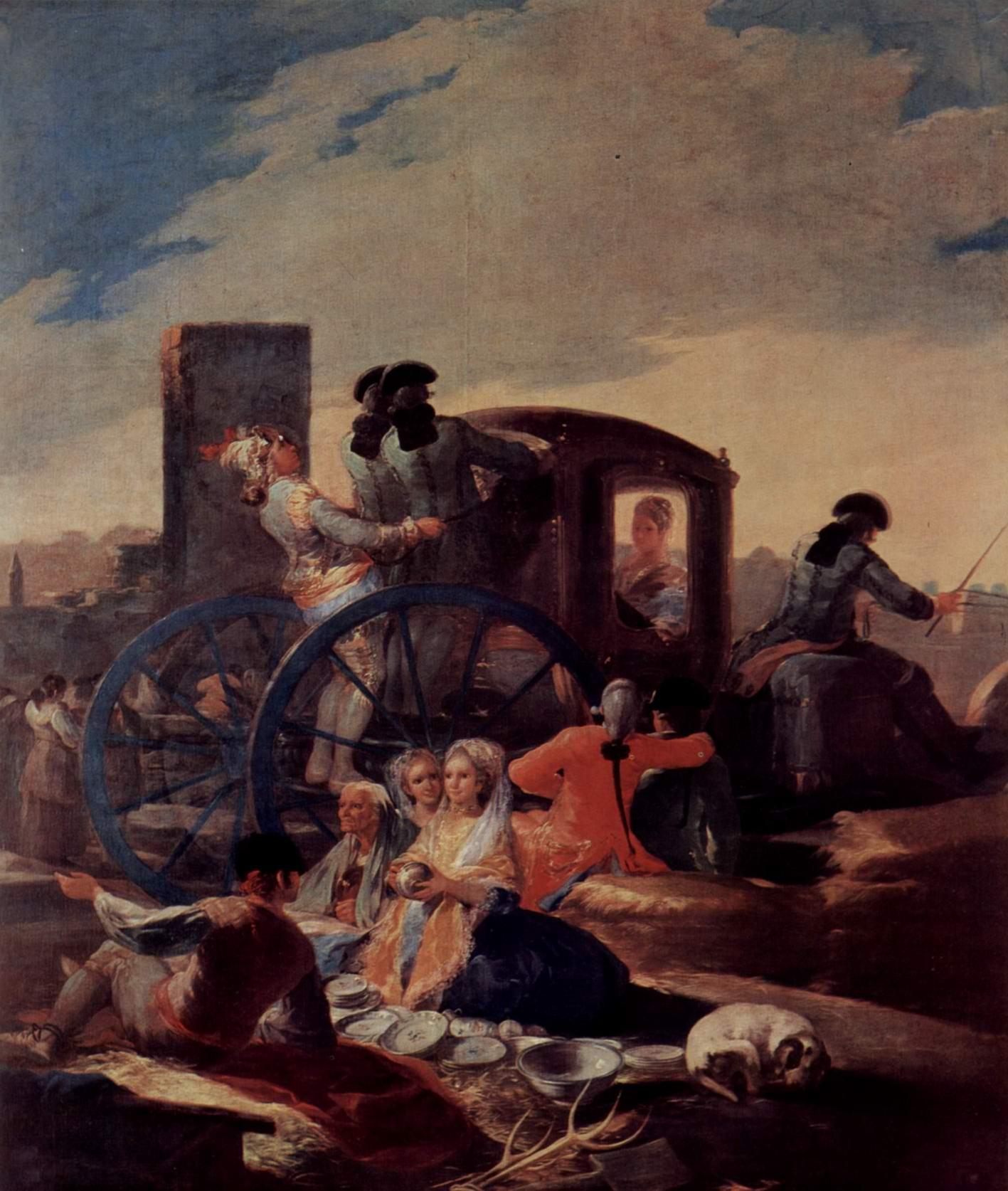 Эскизы гобеленов для королевских дворцов Прадо и Эскориал. Продавец посуды, Франсиско де Гойя-и-Лусьентес