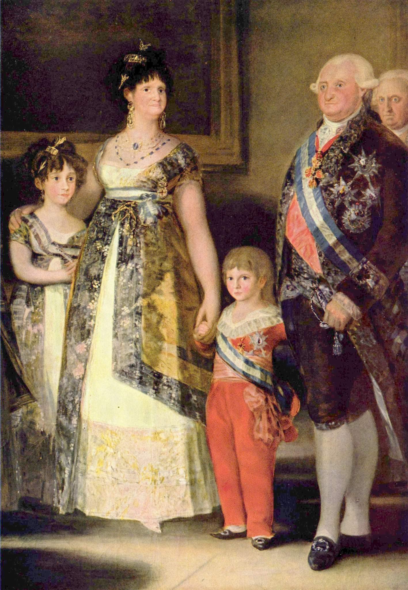 Семейство Карла IV. Фрагмент, Франсиско де Гойя-и-Лусьентес