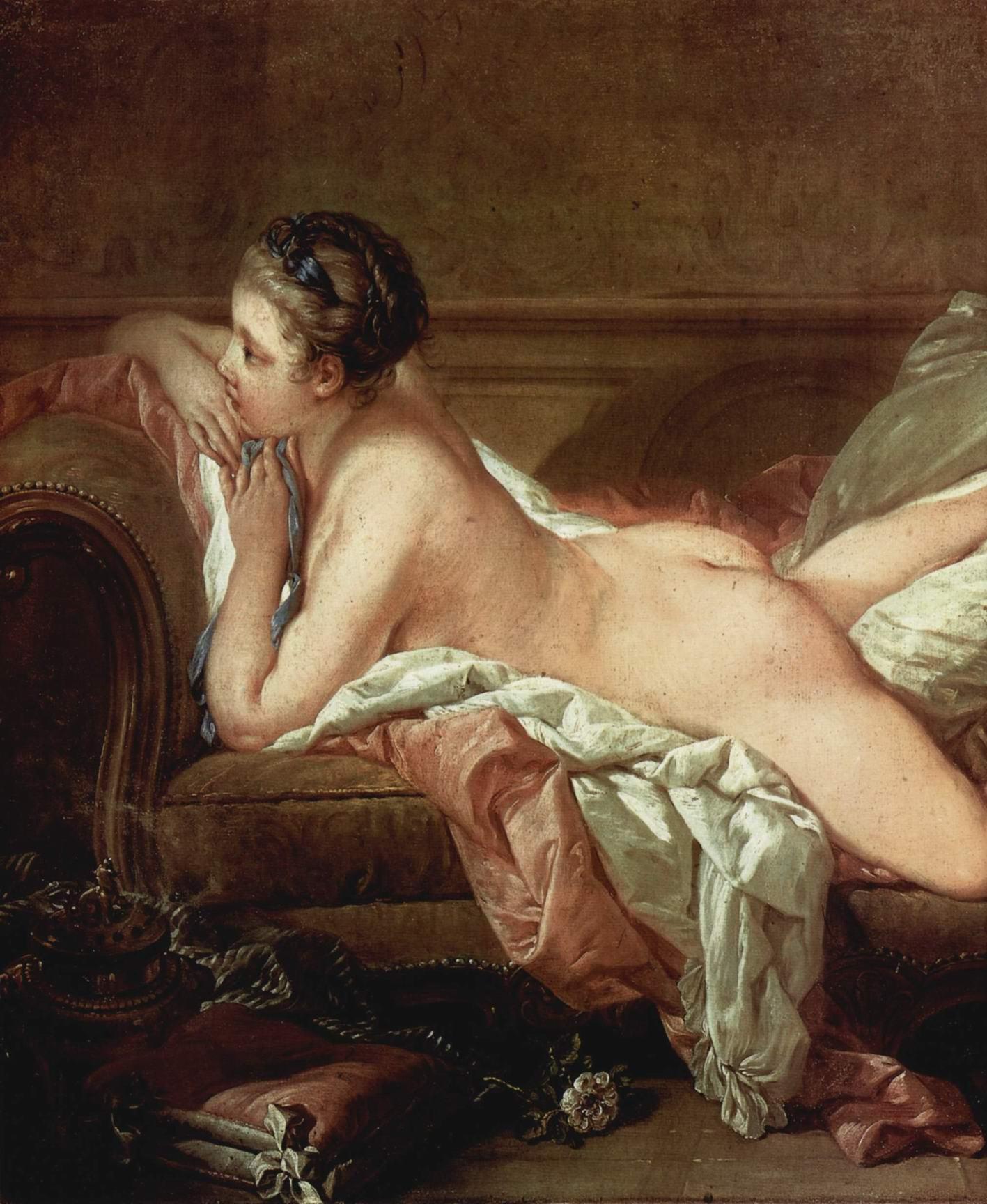Отдыхающая девушка (мадемуазель O'Мёрфи). Деталь, Франсуа Буше