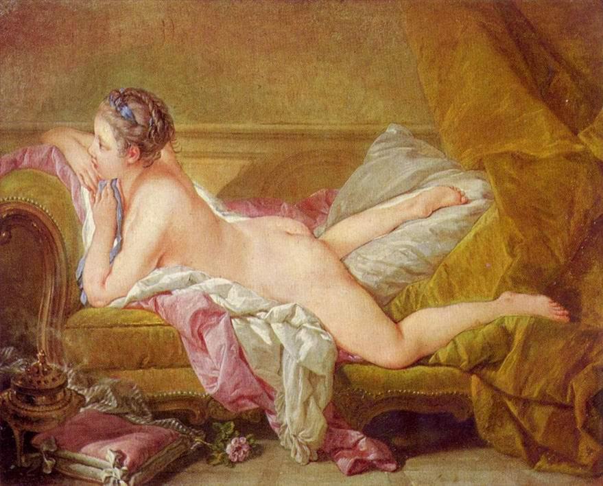 Отдыхающая девушка (мадемуазель O'Мёрфи), Франсуа Буше
