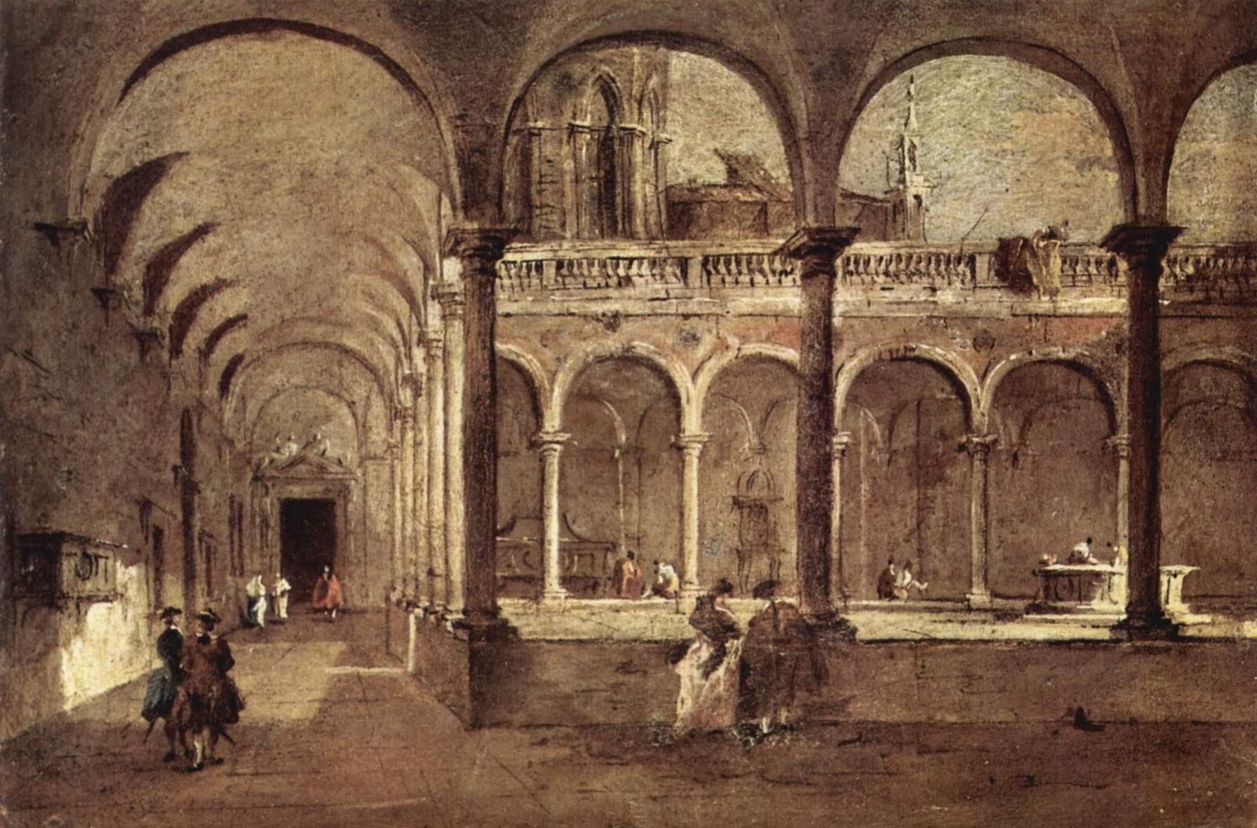 Крылатая галерея в Венеции, Франческо Гварди