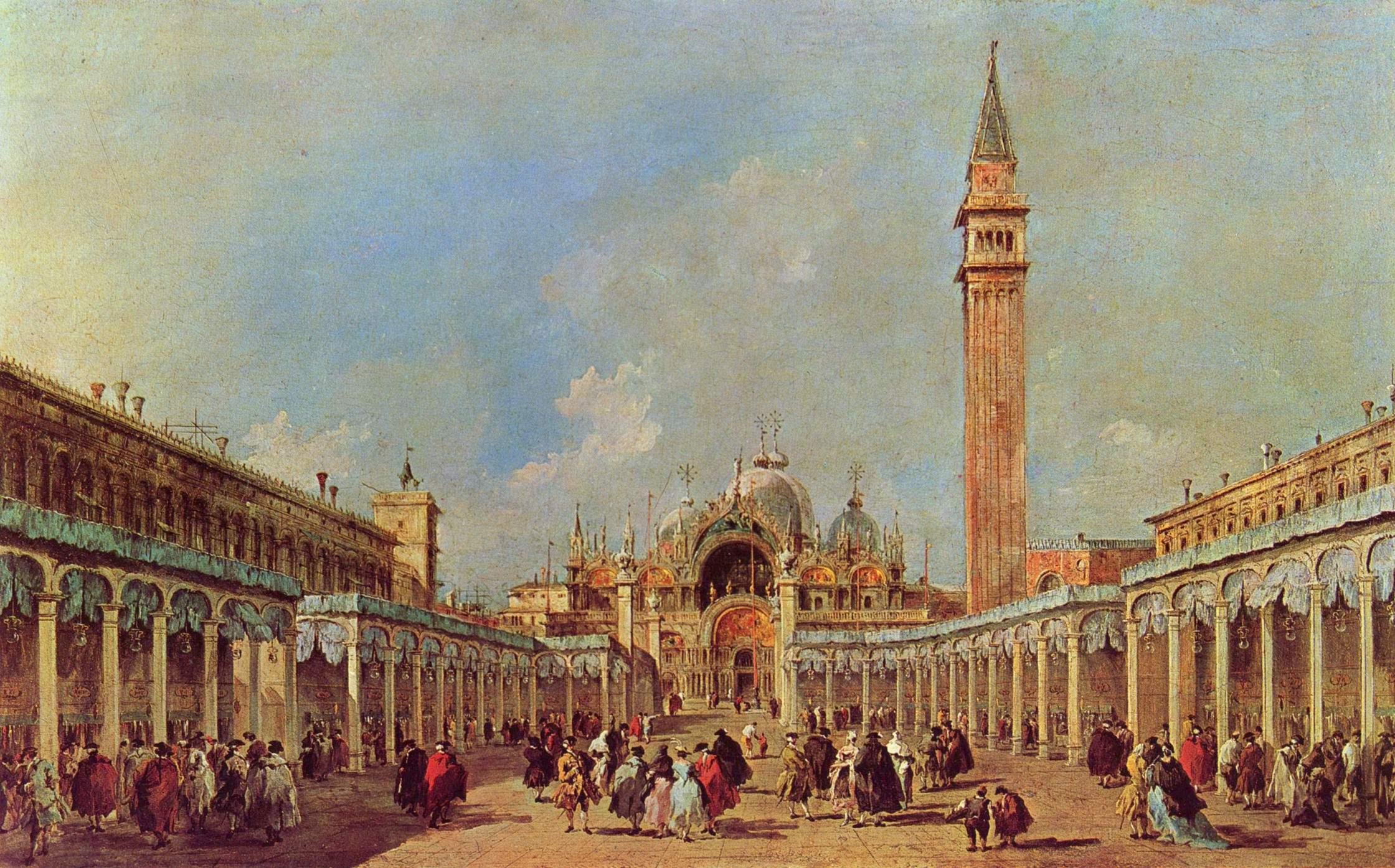 Выставка диковин на площади Сан Марко, Франческо Гварди