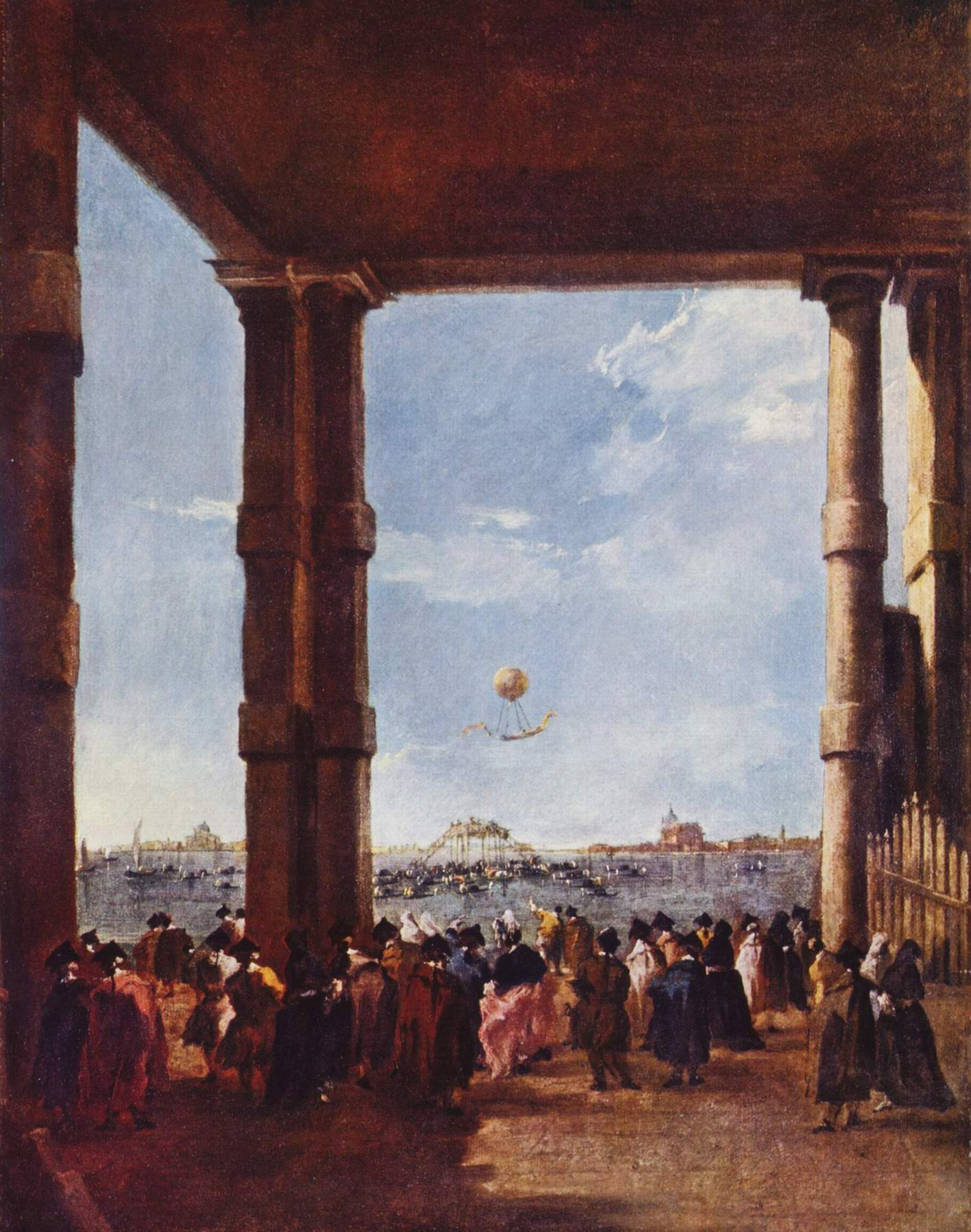 Подъем воздушного шара, Франческо Гварди