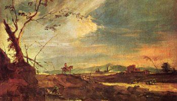 Пейзаж с всадником (Одинокий всадник)