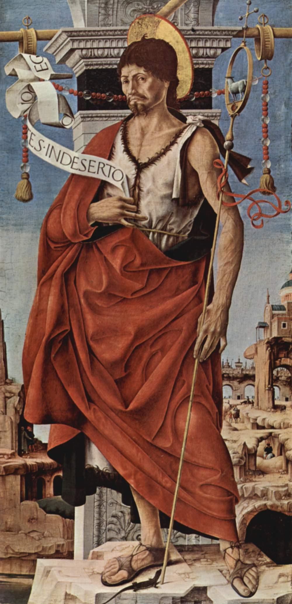Алтарь Гриффони, Капелла Гриффони в церкви Сан Петронио в Болонье, правая створка  Иоанн Креститель, Франческо дель Косса