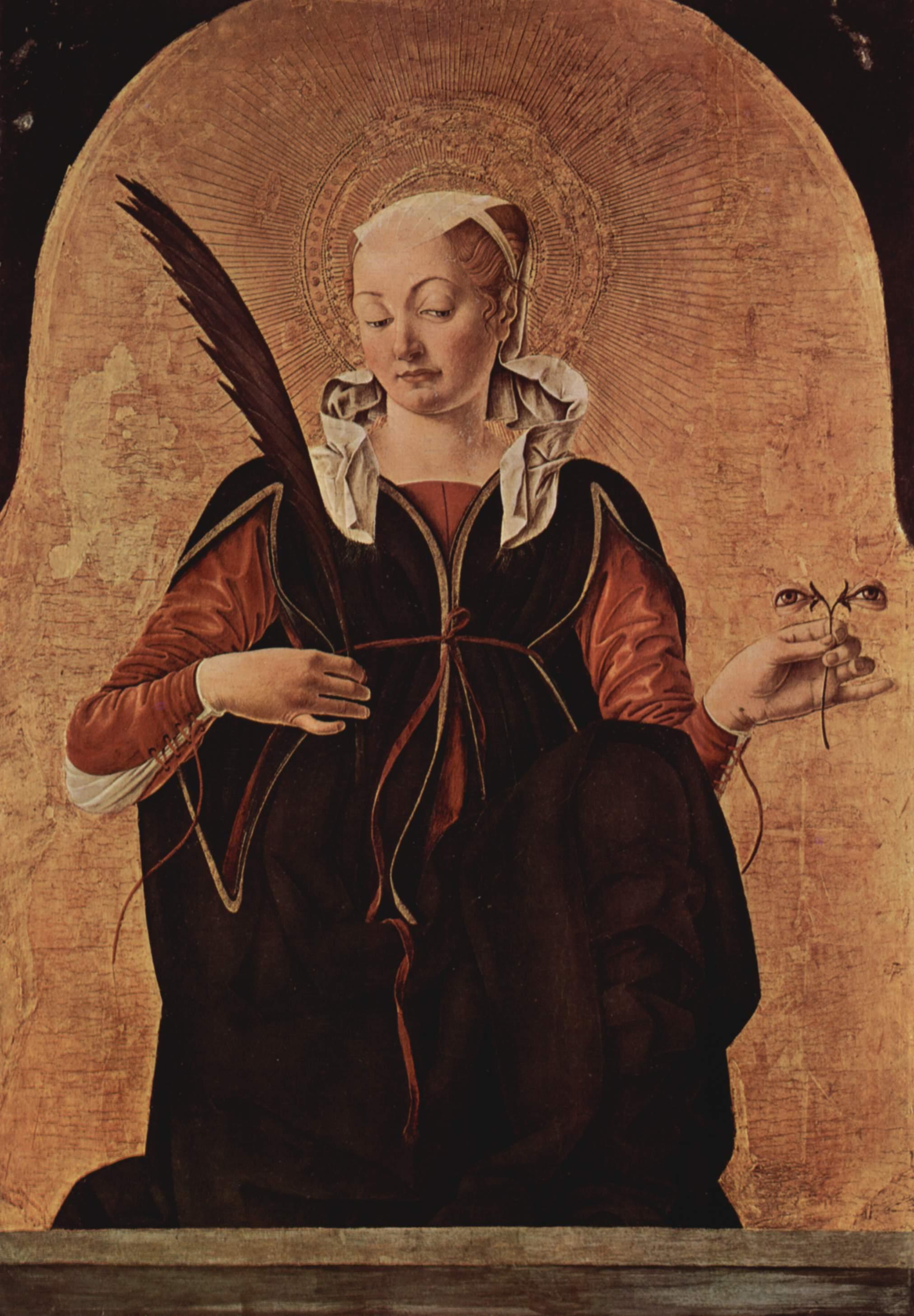Алтарь Гриффони, первоначально Капелла Гриффони в церкви Сан Петронио в Болонье, навершие на правой, Франческо дель Косса