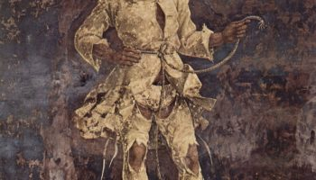 Фрески с изображением месяцев марта, апреля и мая во дворце Скифаноя, март — триумфальное шествие
