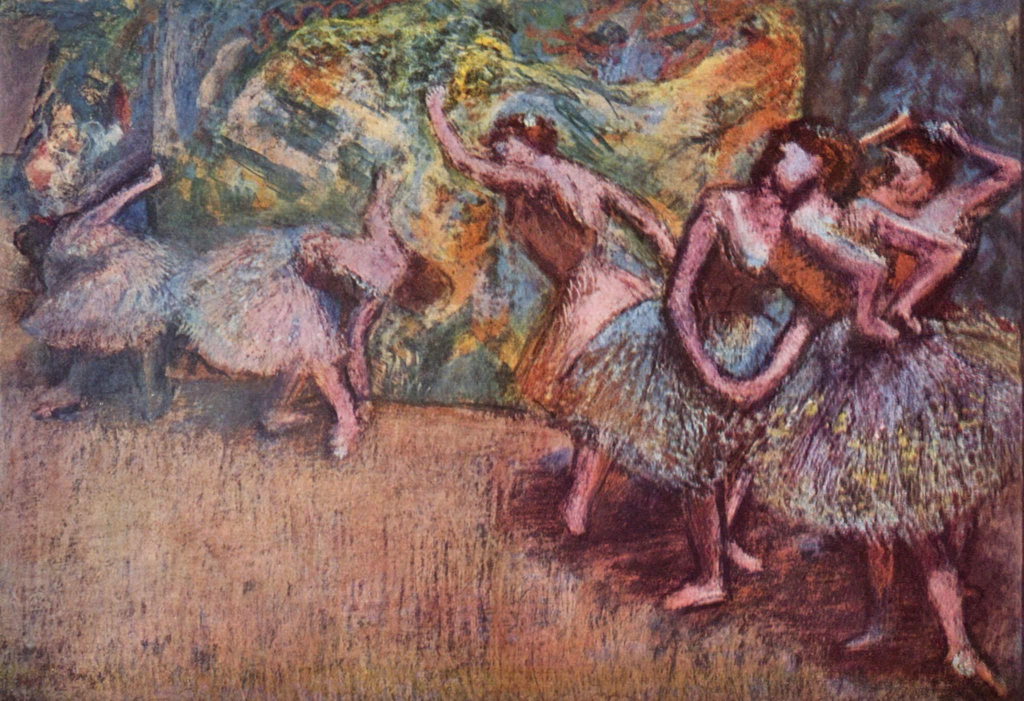 Балетная сцена, Эдгар-Жермен - Илер Дега