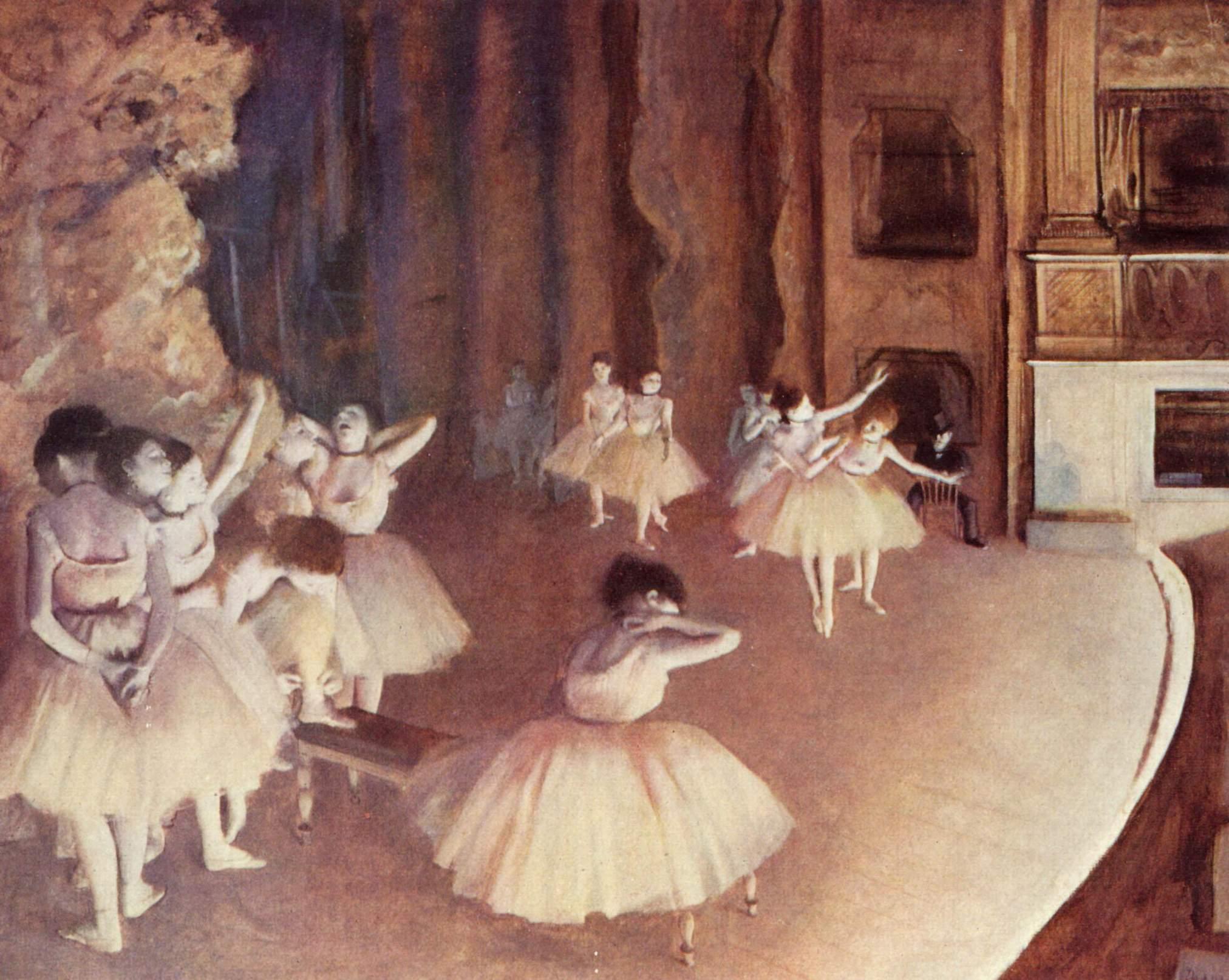 Генеральная репетиция балета на сцене, Эдгар-Жермен - Илер Дега