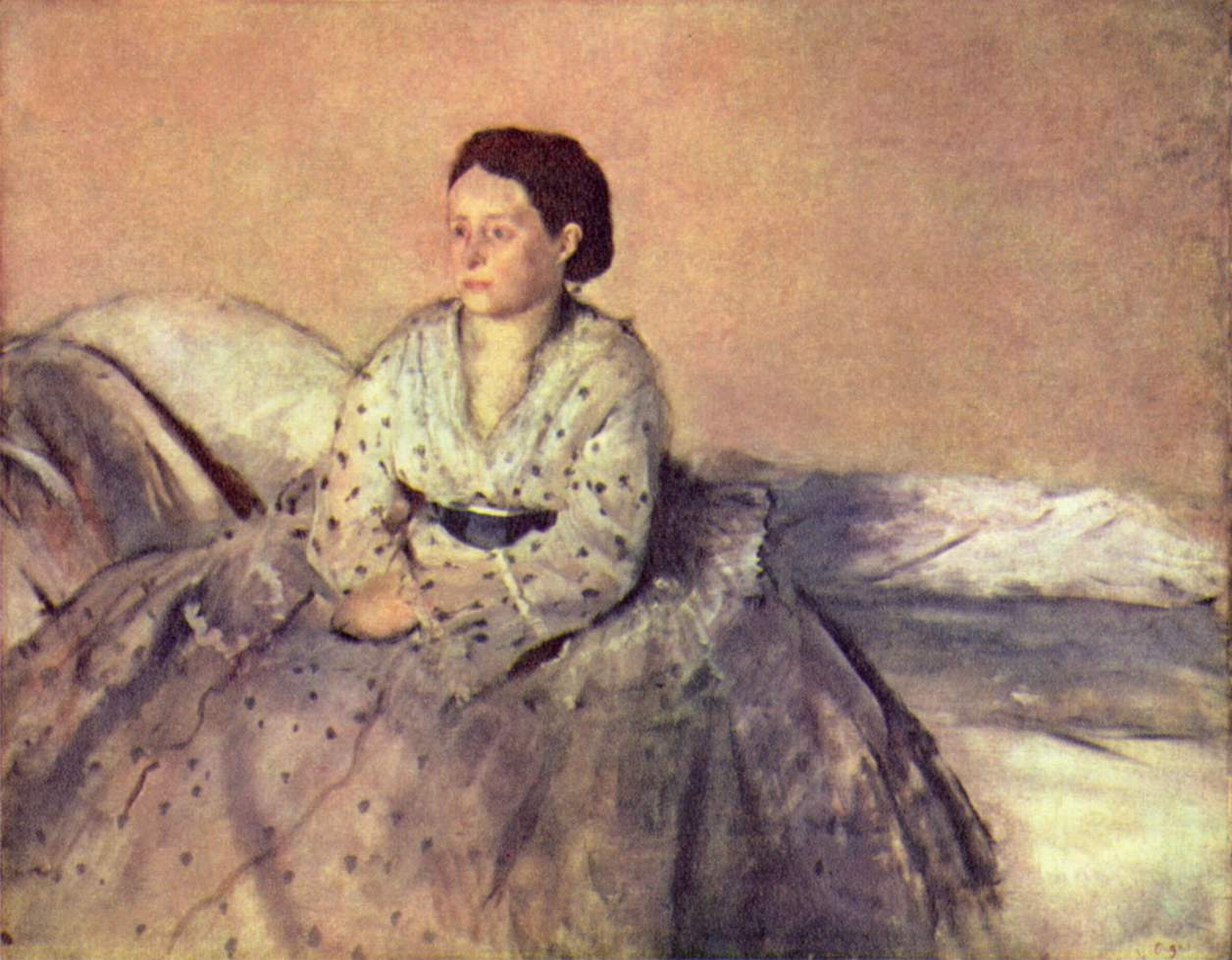 Портрет мадам Рене де Га, Эдгар-Жермен - Илер Дега