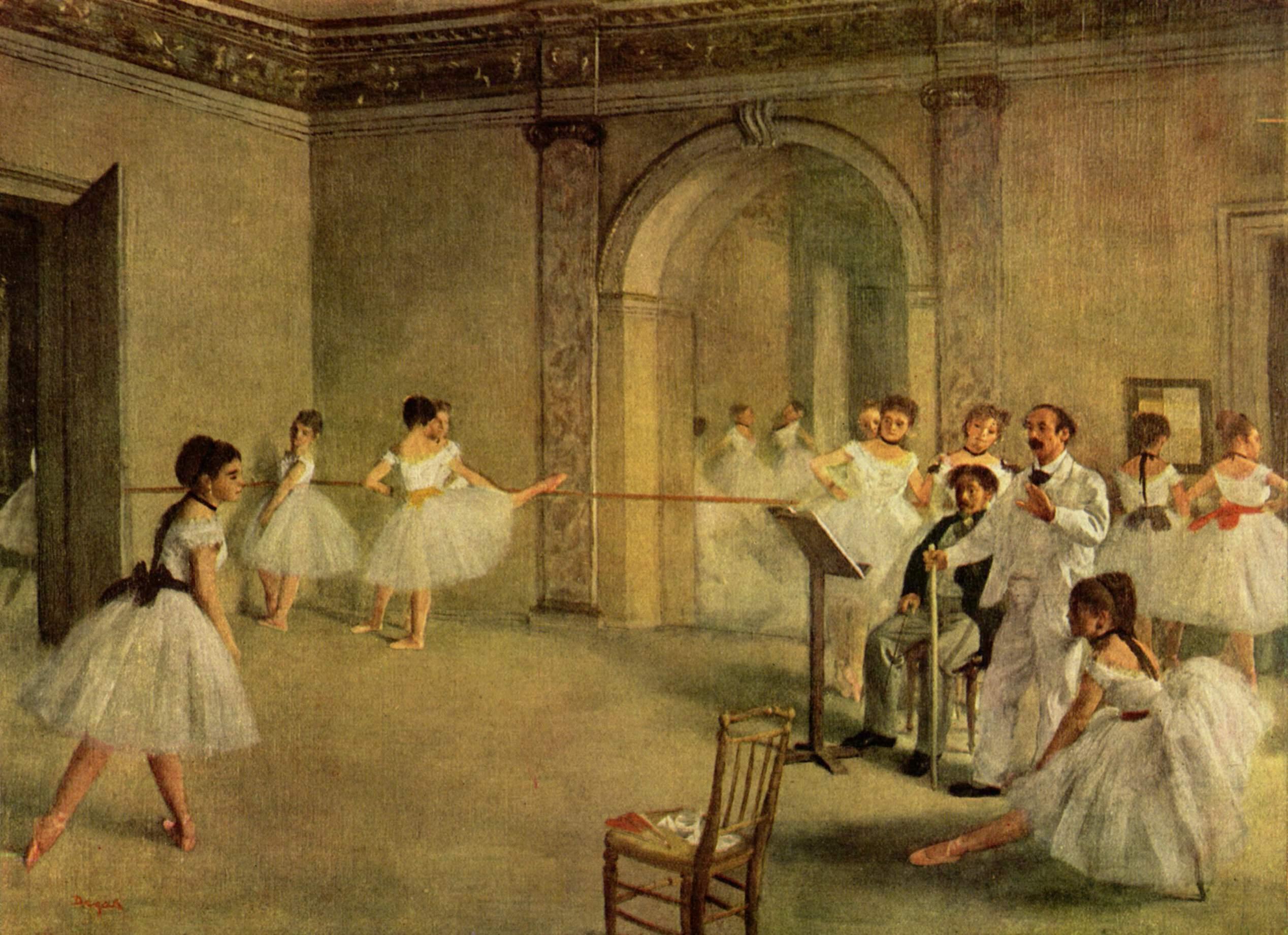 Балетный класс Оперы на улице Пелетье, Эдгар-Жермен - Илер Дега