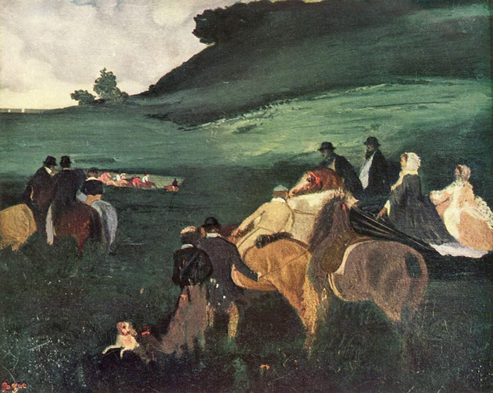 Пейзаж с всадниками, Эдгар-Жермен - Илер Дега