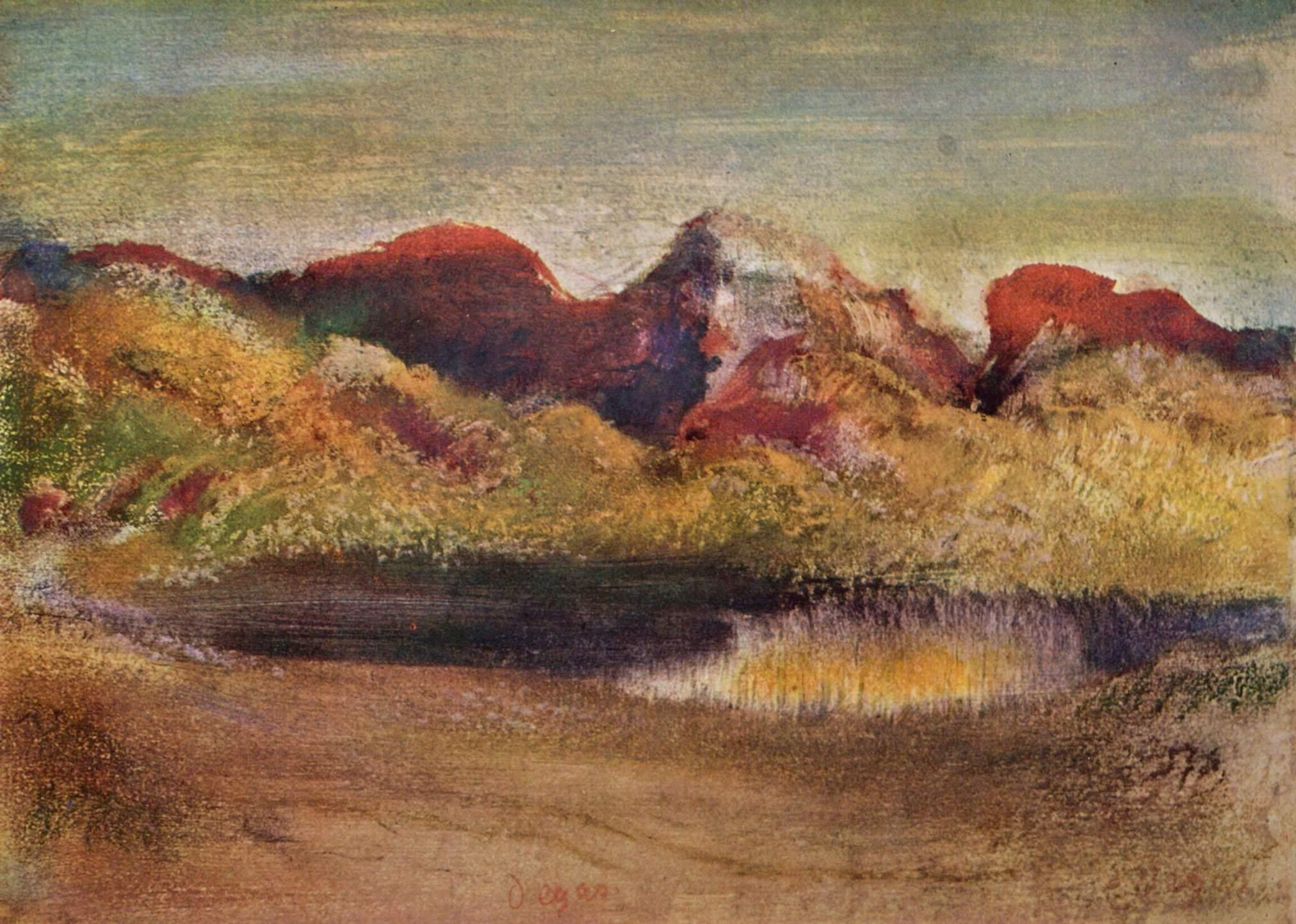 Море и горы, Эдгар-Жермен - Илер Дега