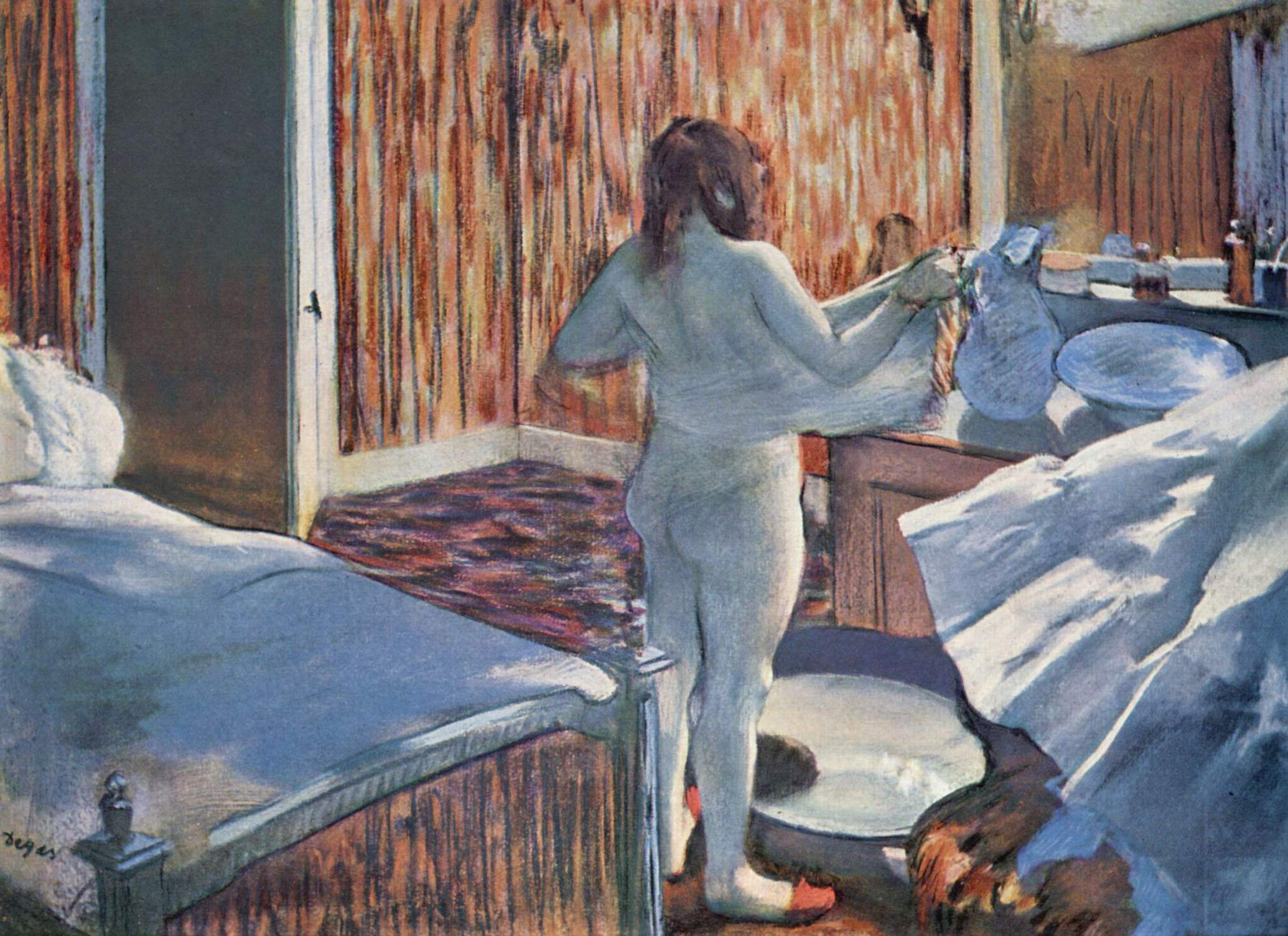 Женщина за туалетом, Эдгар-Жермен - Илер Дега
