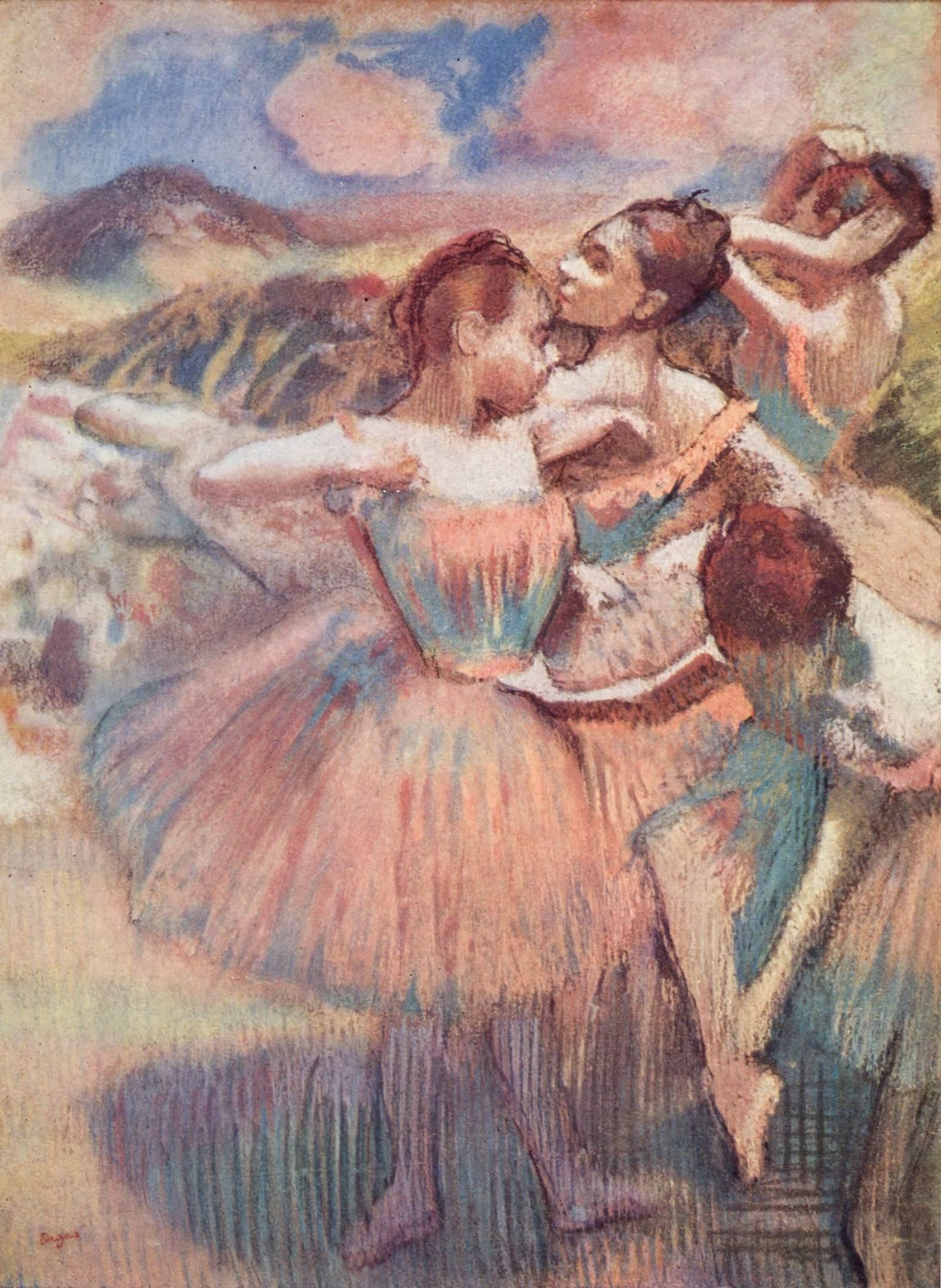 Пейзаж с танцовщицами, Эдгар-Жермен - Илер Дега