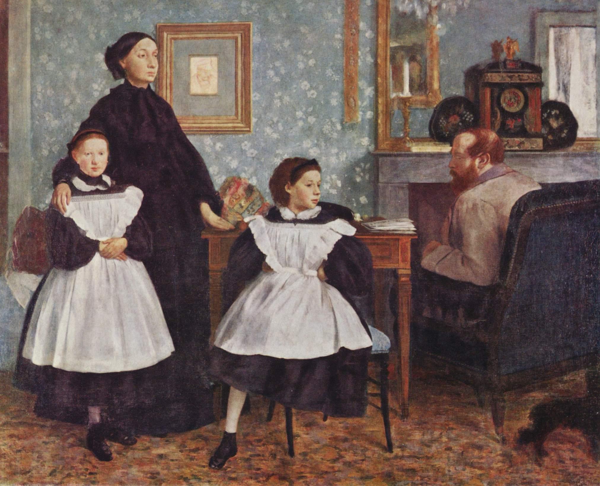 Портрет семьи Беллели, Эдгар-Жермен - Илер Дега