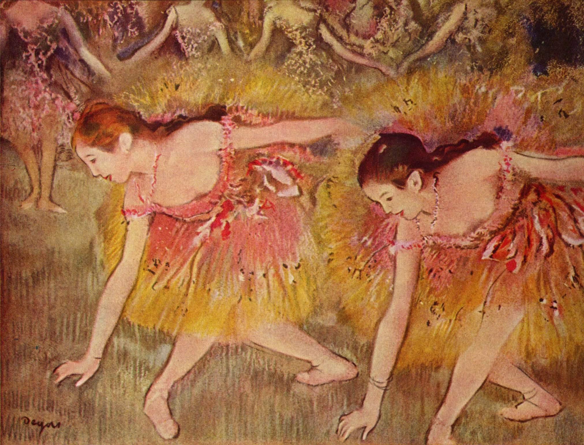 Танцовщицы на поклонах, Эдгар-Жермен - Илер Дега