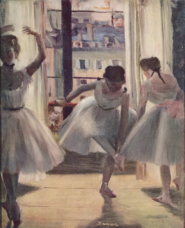Три танцовщицы в репетиционном зале, Эдгар-Жермен - Илер Дега