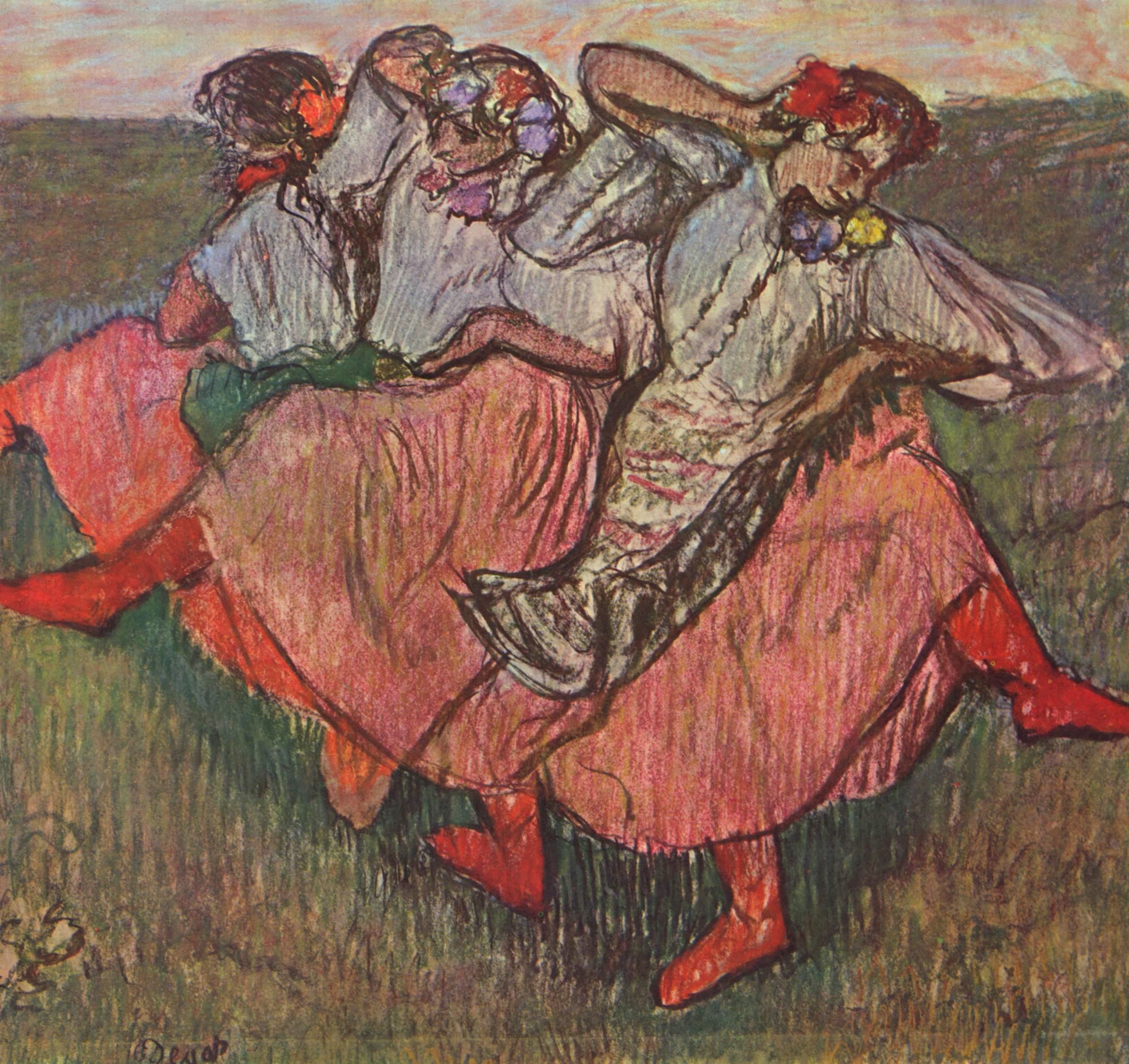 Три русские танцовщицы, Эдгар-Жермен - Илер Дега