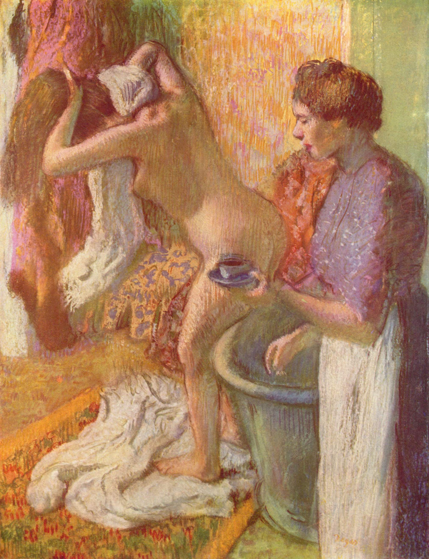 После ванны, Эдгар-Жермен - Илер Дега
