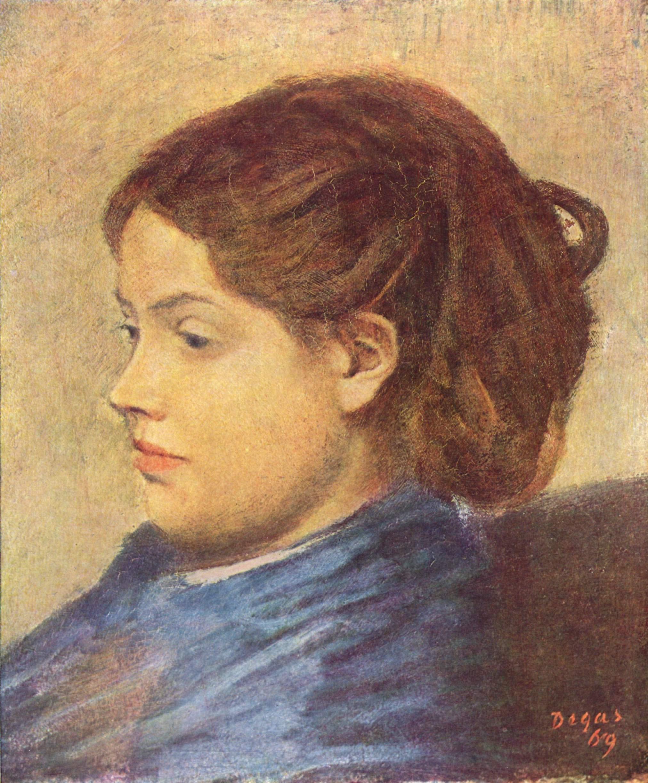 Портрет мадемуазель Добиньи, Эдгар-Жермен - Илер Дега