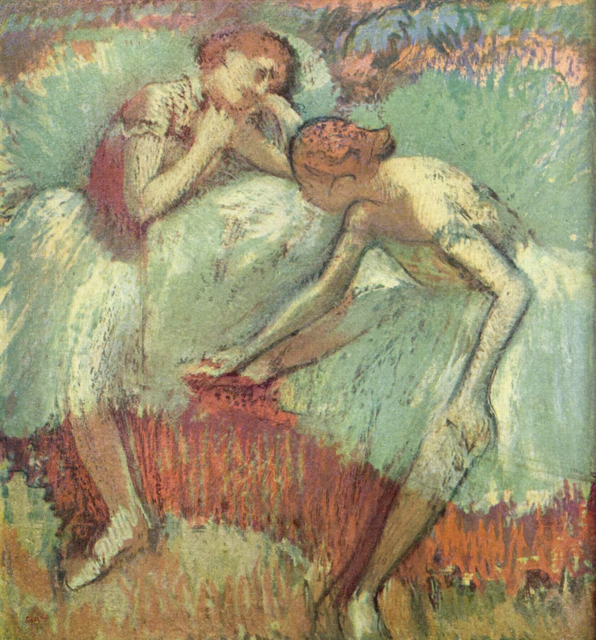 Танцовщица в зелёном, Эдгар-Жермен - Илер Дега
