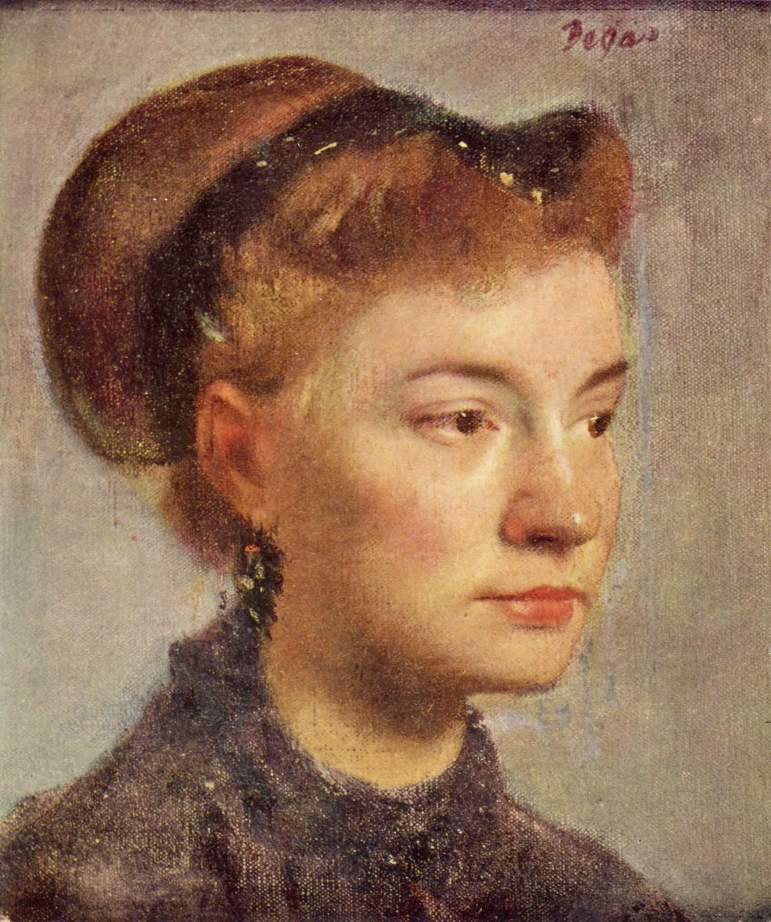 Портрет молодой женщины, Эдгар-Жермен - Илер Дега