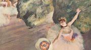 Танцовщица с букетом цветов (звезда балета)