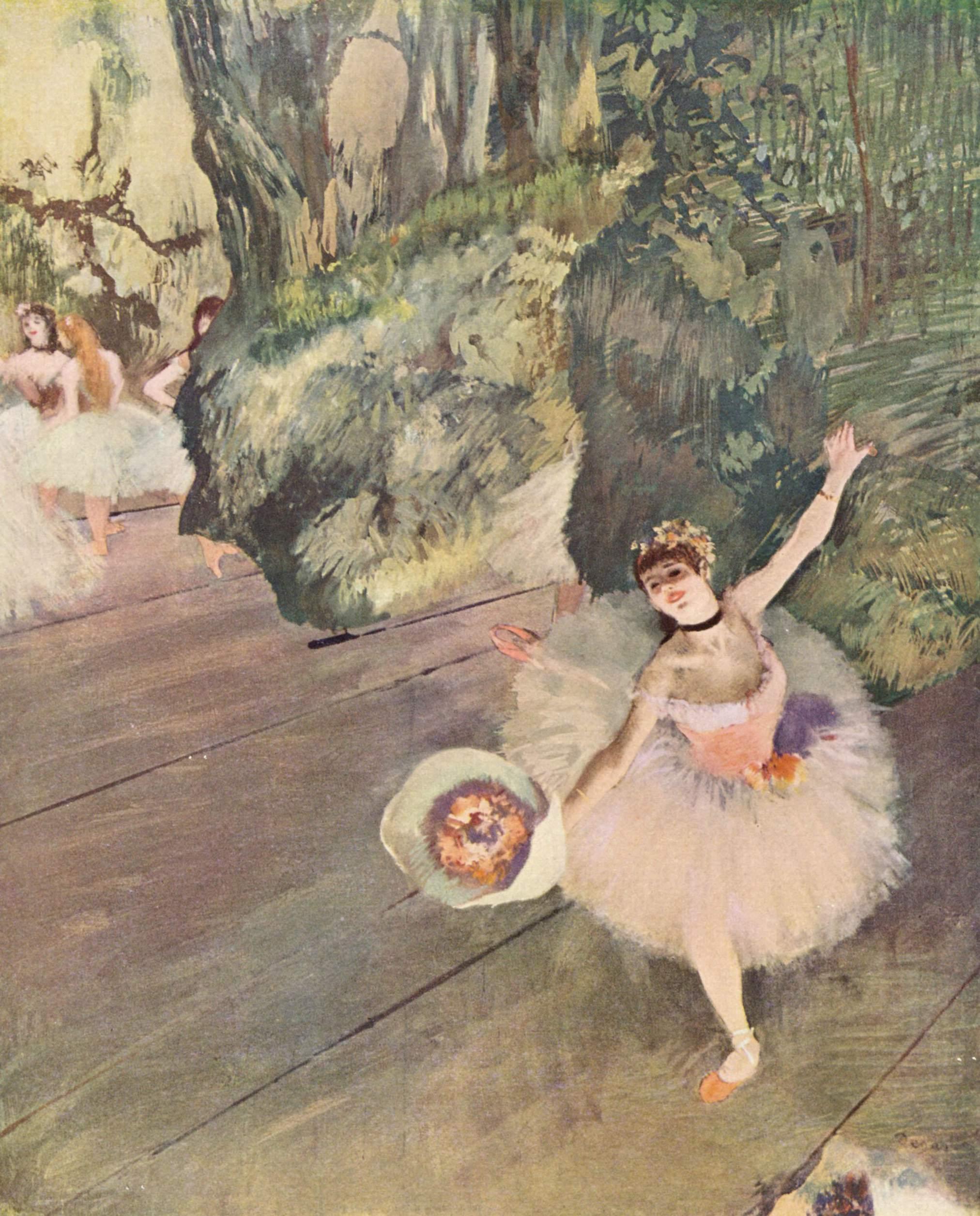 Танцовщица с букетом цветов (звезда балета), Эдгар-Жермен - Илер Дега