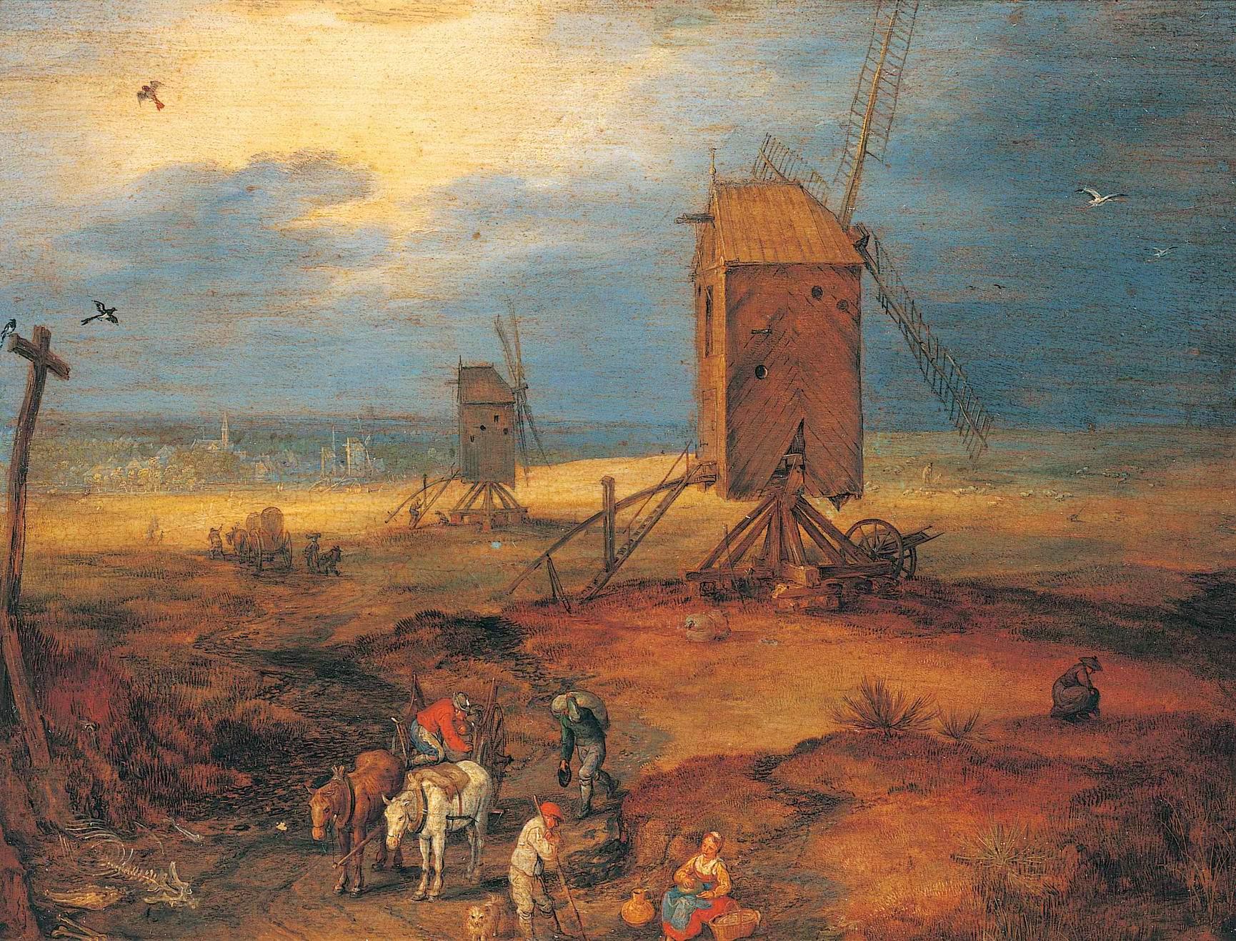 Четыре ветряные мельницы, Ян (Бархатный) Брейгель Старший