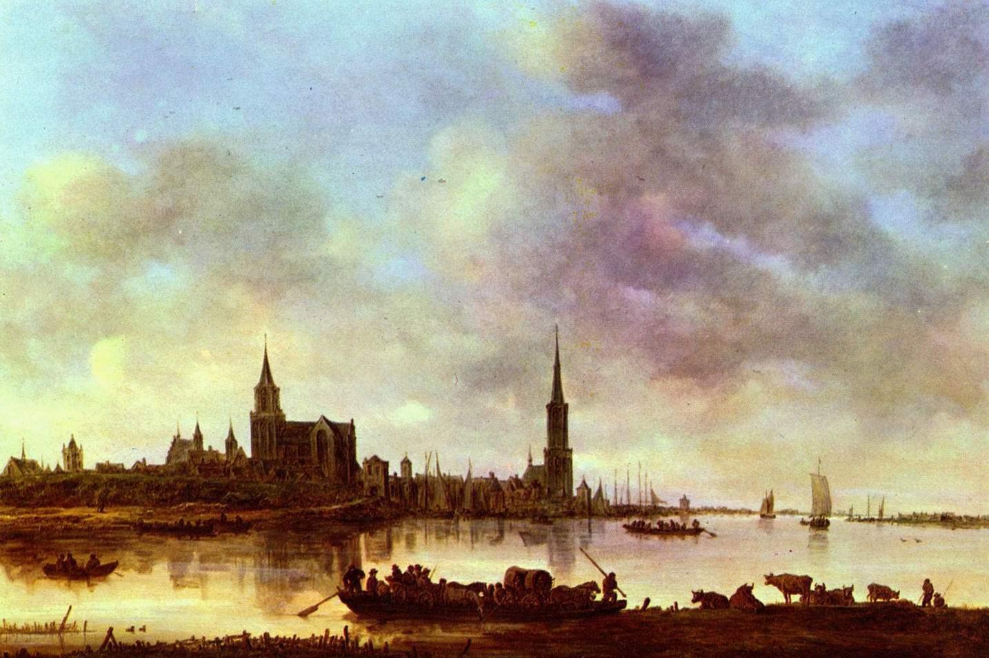 Вид на Эммерих, Ян ван Гойен