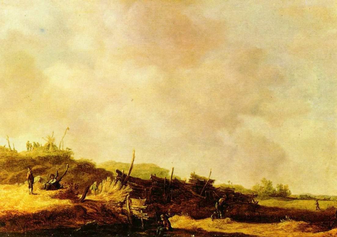 Пейзаж с дюнами, Ян ван Гойен