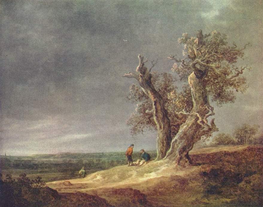 Пейзаж с двумя дубами, Ян ван Гойен