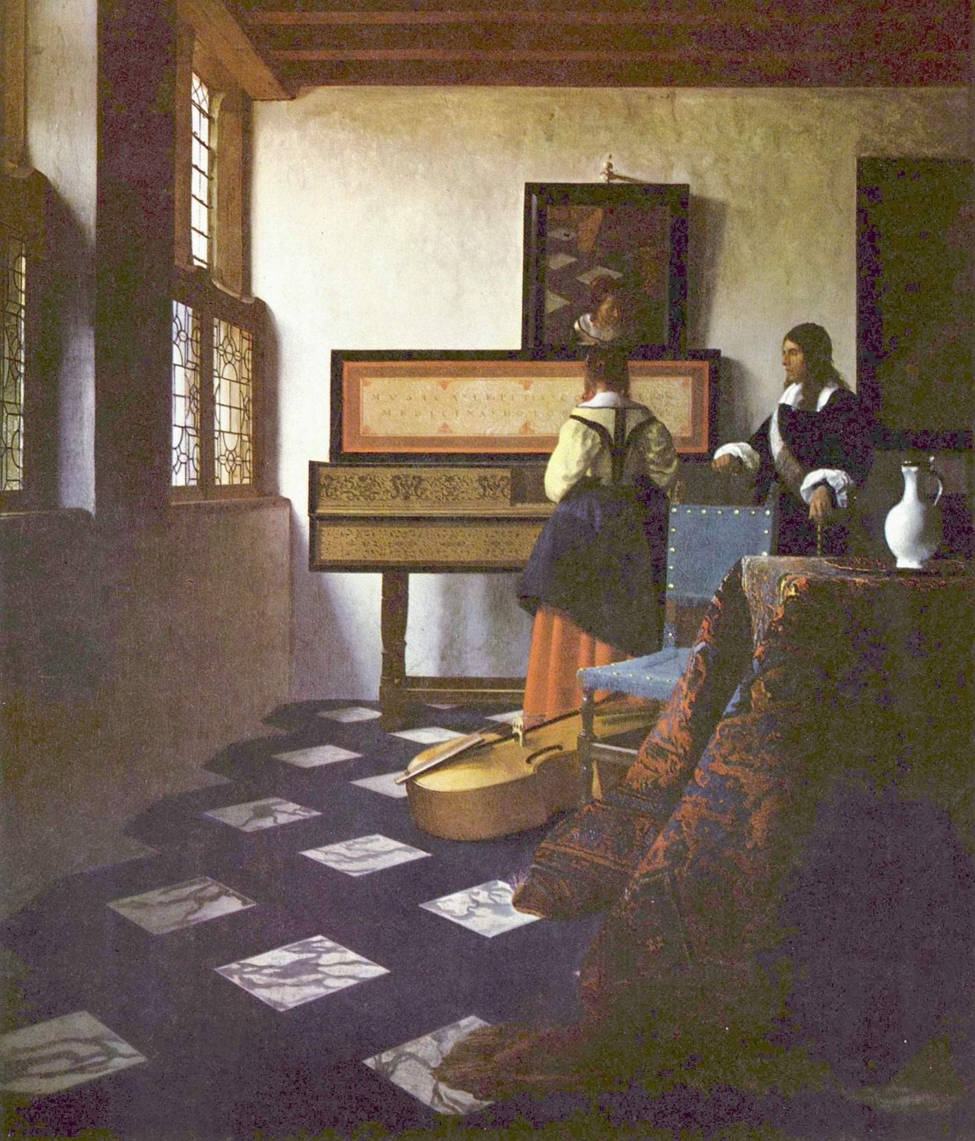 Урок музыки, или Кавалер и дама у спинета, Ян Вермеер Делфтский
