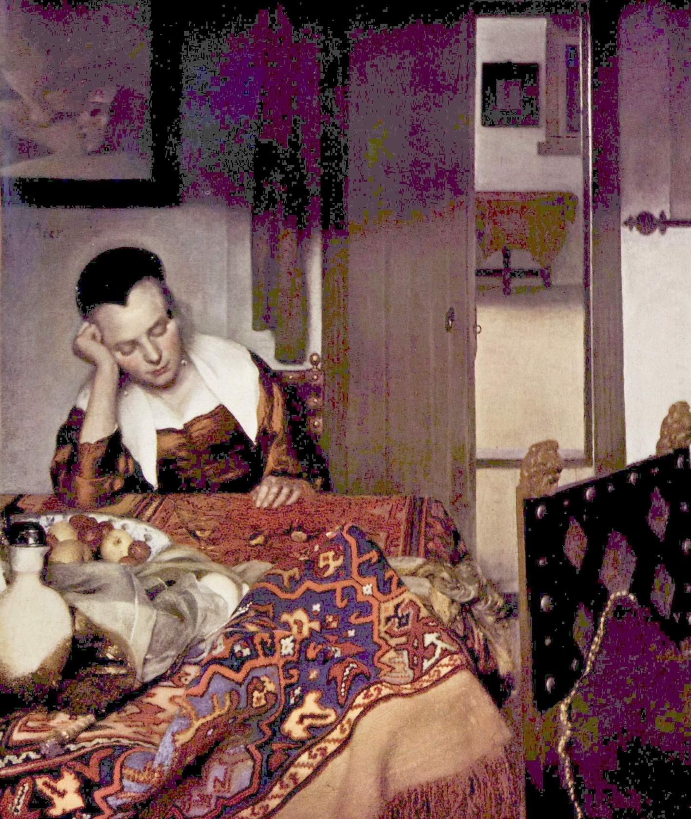 Спящая молодая женщина, Ян Вермеер Делфтский