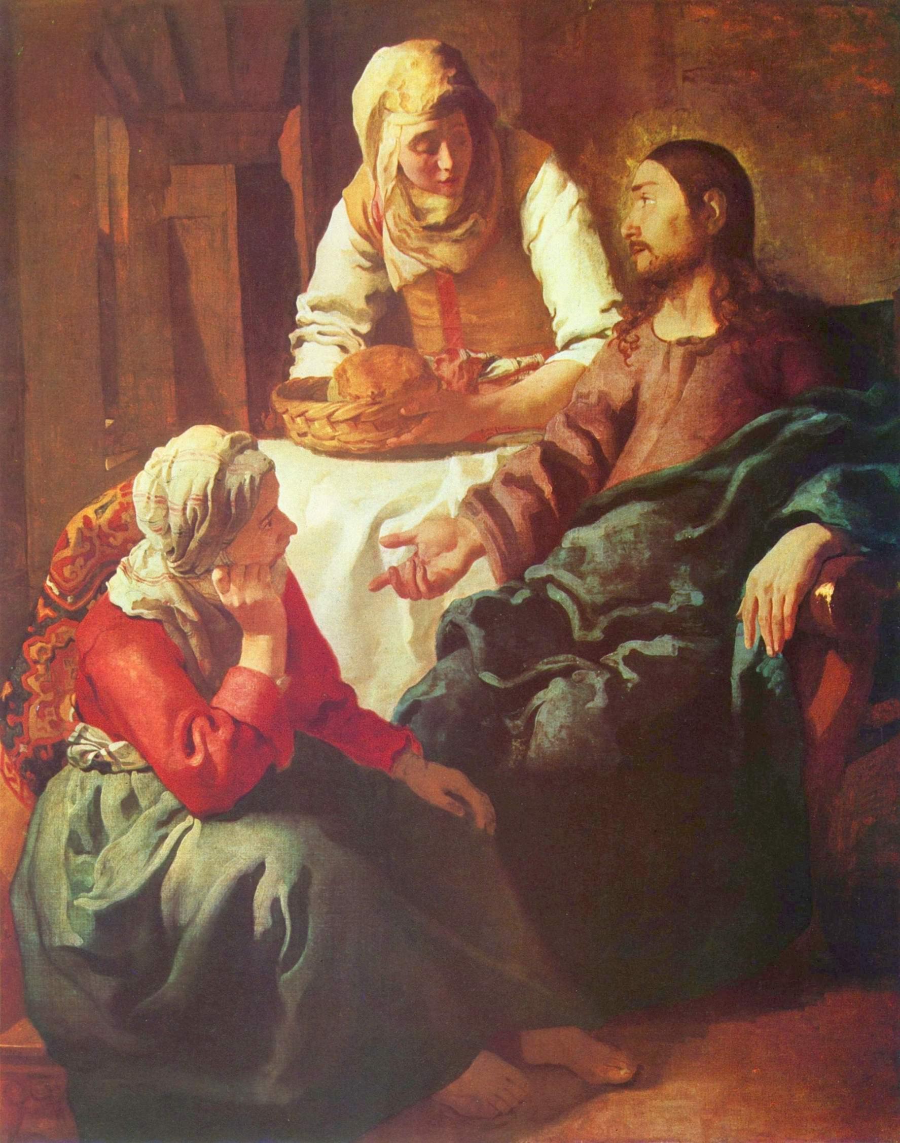 Христос в доме Марии и Марфы, Ян Вермеер Делфтский
