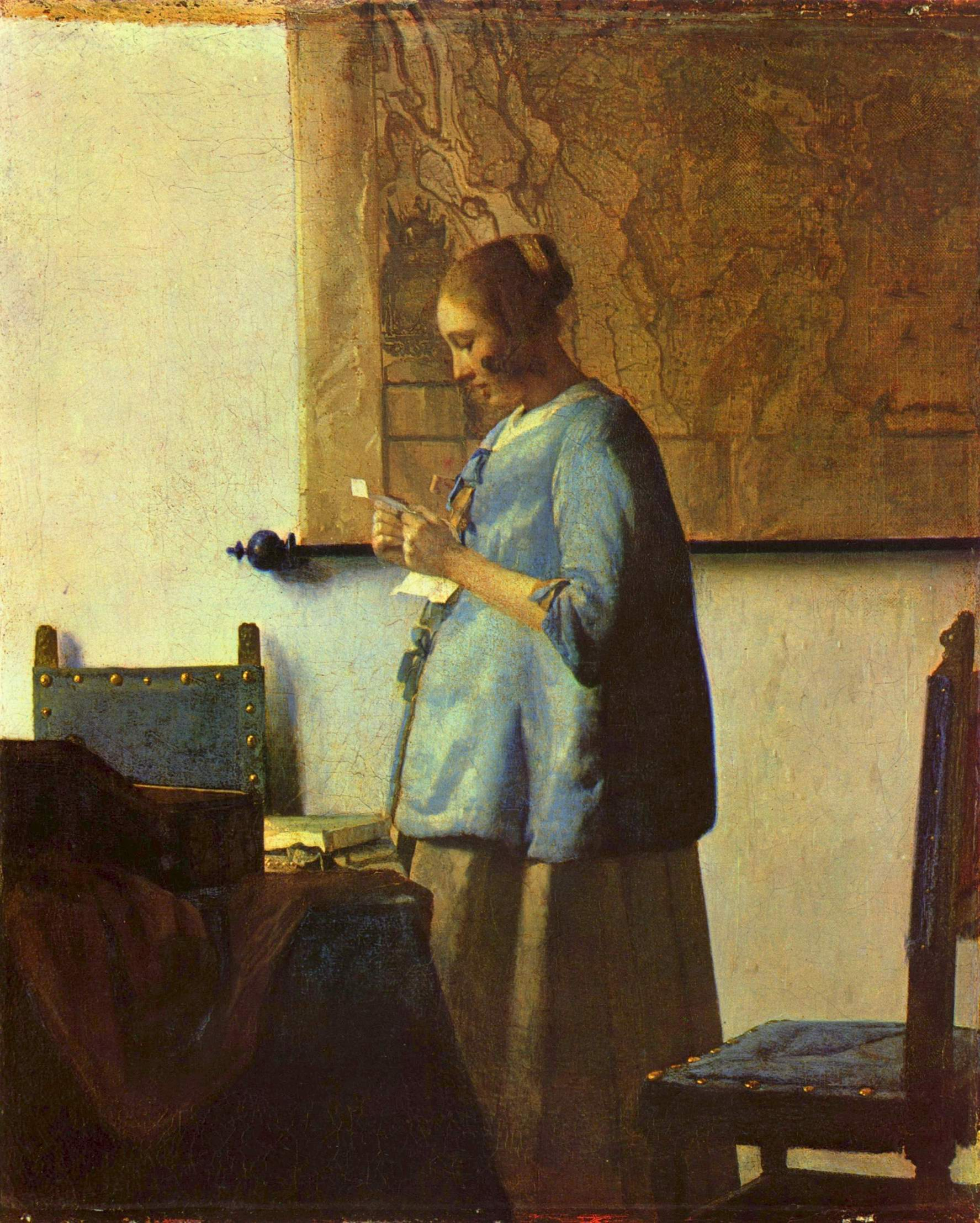 Женщина, читающая письмо, Ян Вермеер Делфтский