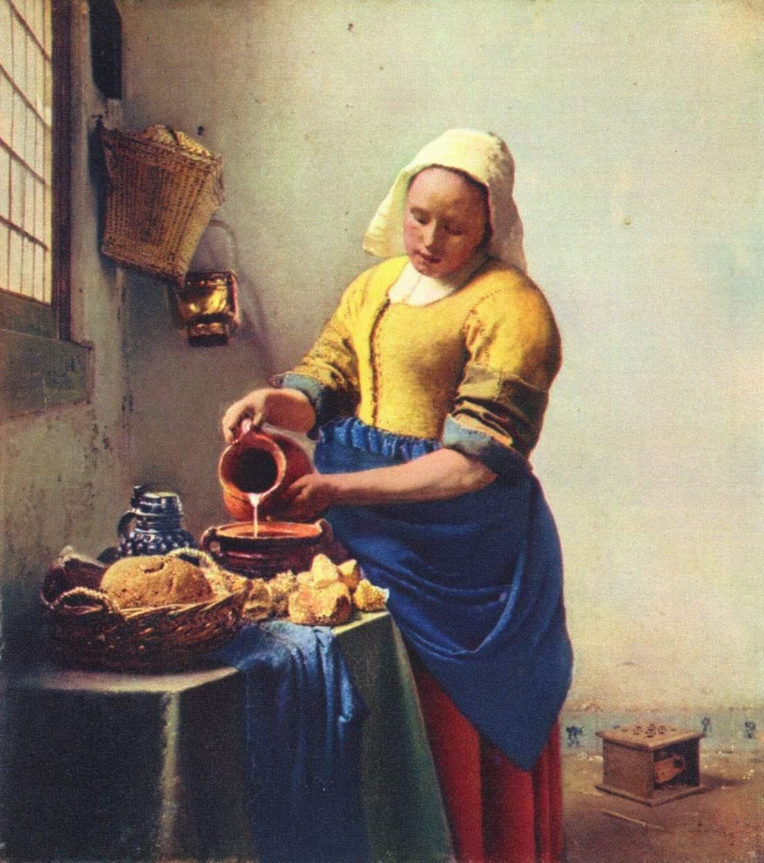 Служанка, наливающая молоко , Ян Вермеер Делфтский