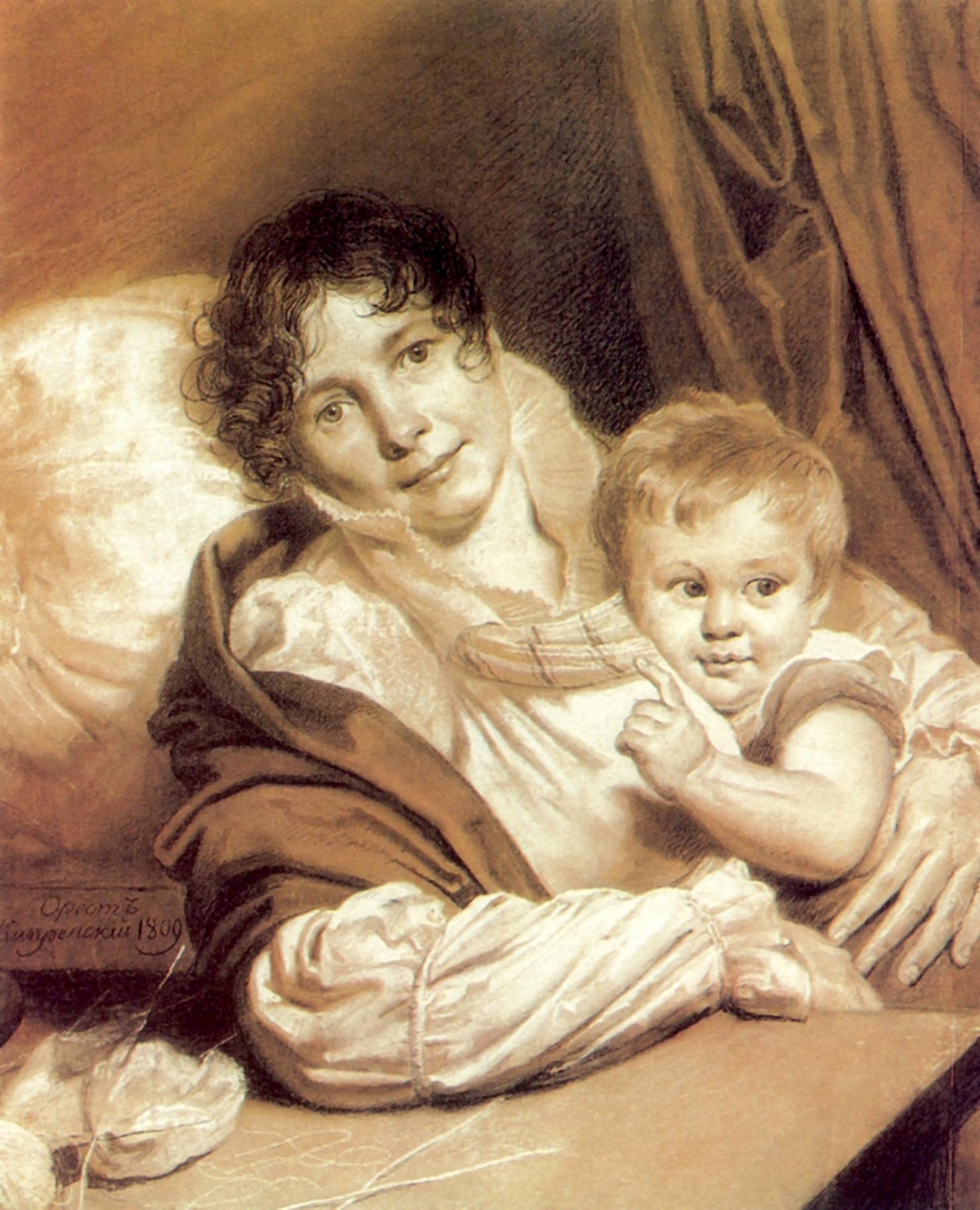 Мать с ребёнком, Кипренский Орест Адамович